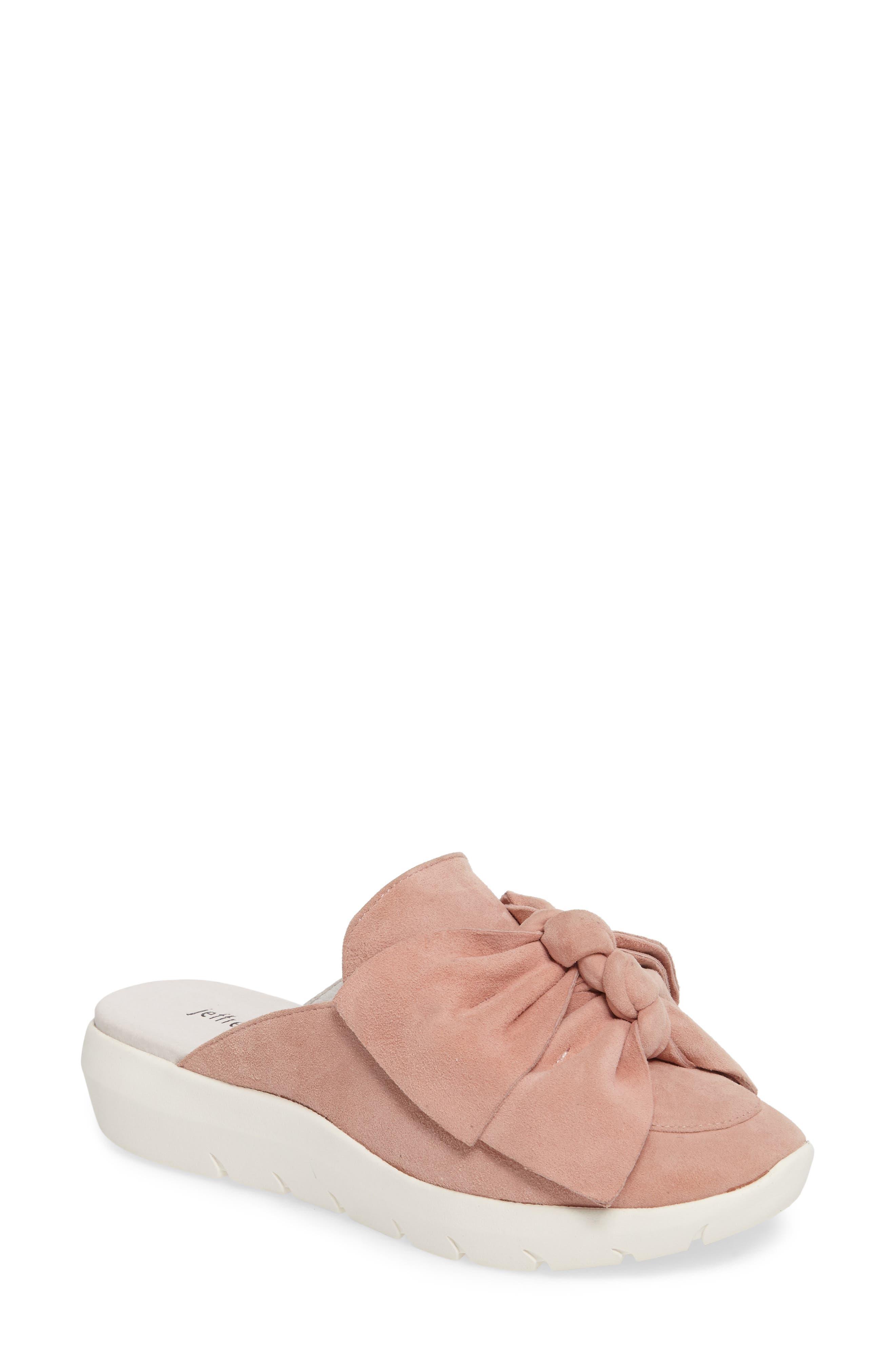 Tibow Platform Slide Sneaker,                             Main thumbnail 1, color,                             Pale Pink Suede