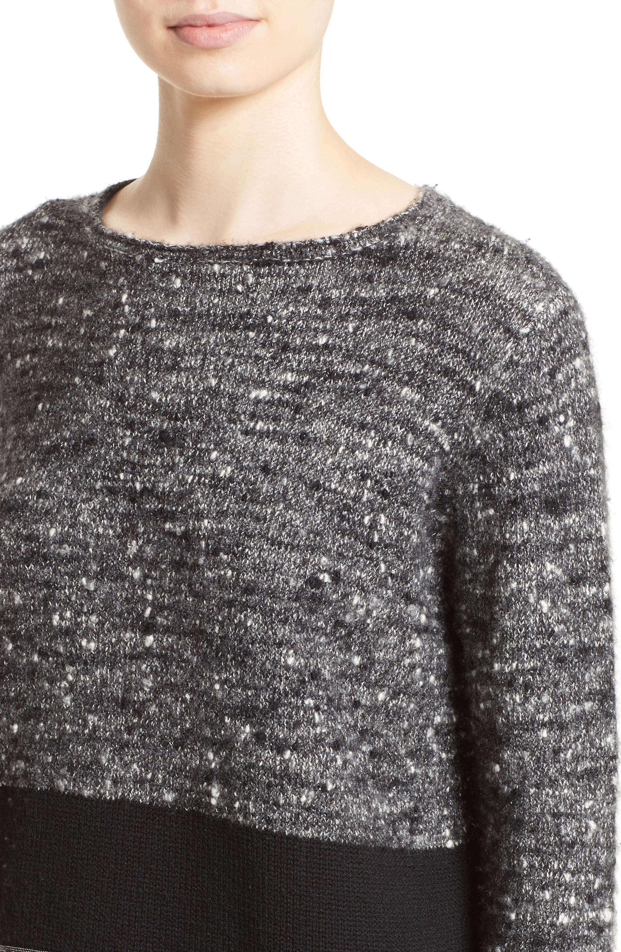 Alternate Image 6  - Fabiana Filippi Cashmere & Silk Blend Tweed Pullover