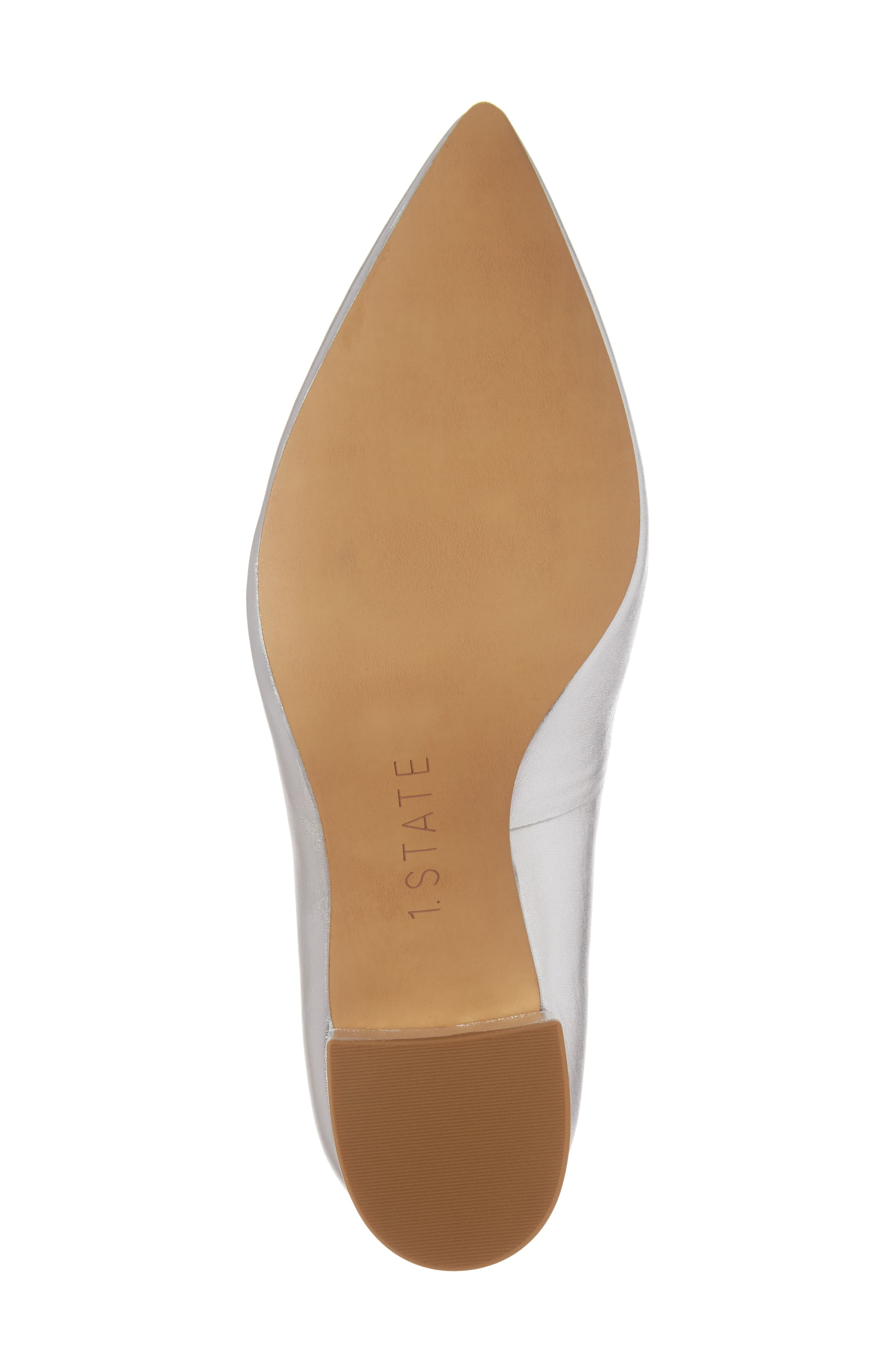 Jact Pointy Toe Pump,                             Alternate thumbnail 6, color,                             Bright Silver Leather