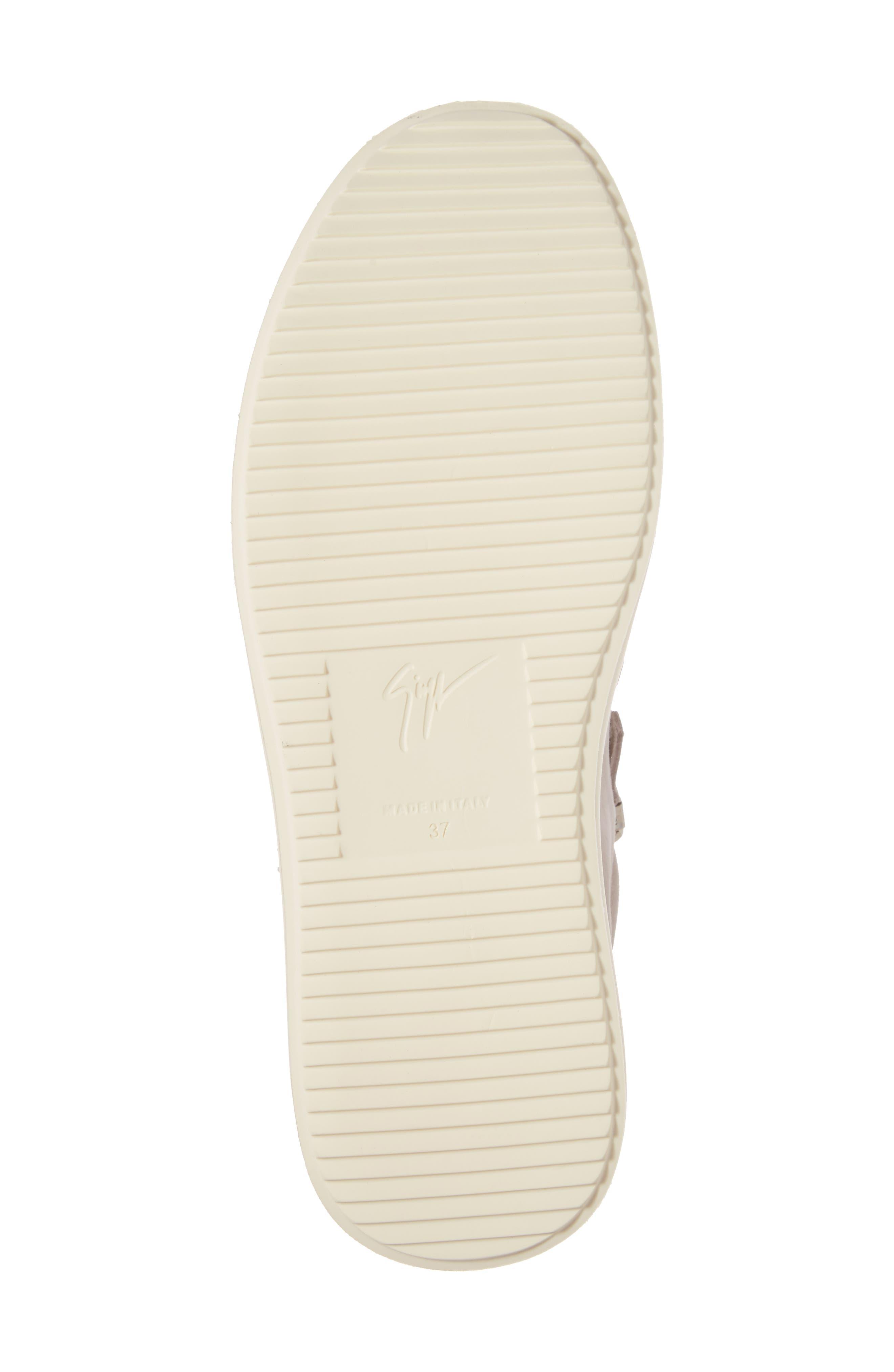 Zip Mid-Top Sneaker,                             Alternate thumbnail 6, color,                             Grey
