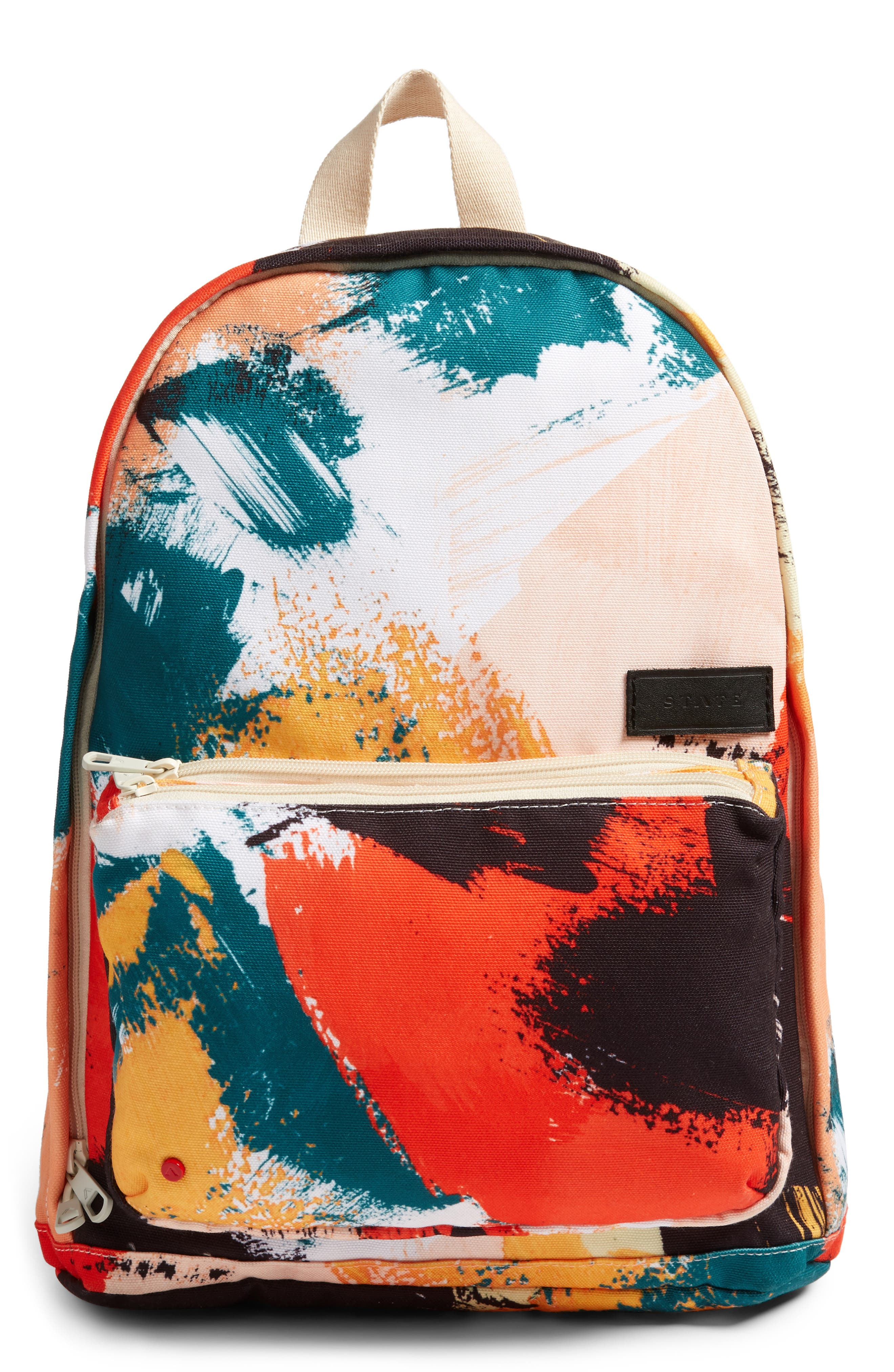 STATE BAGS Brushstroke Slim Lorimer Water Resistant Canvas Backpack