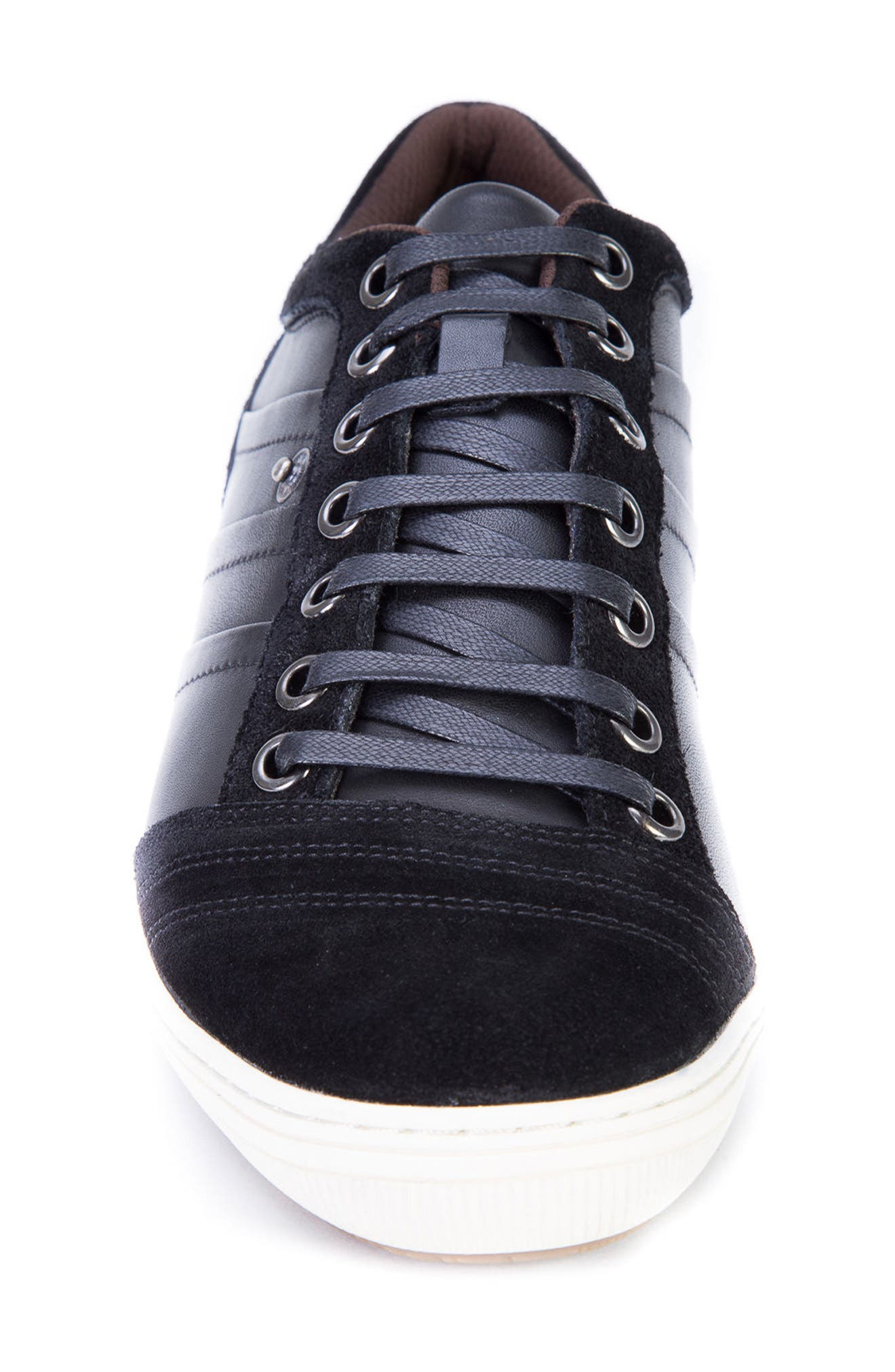 Jive Sneaker,                             Alternate thumbnail 4, color,                             Black Leather/Suede