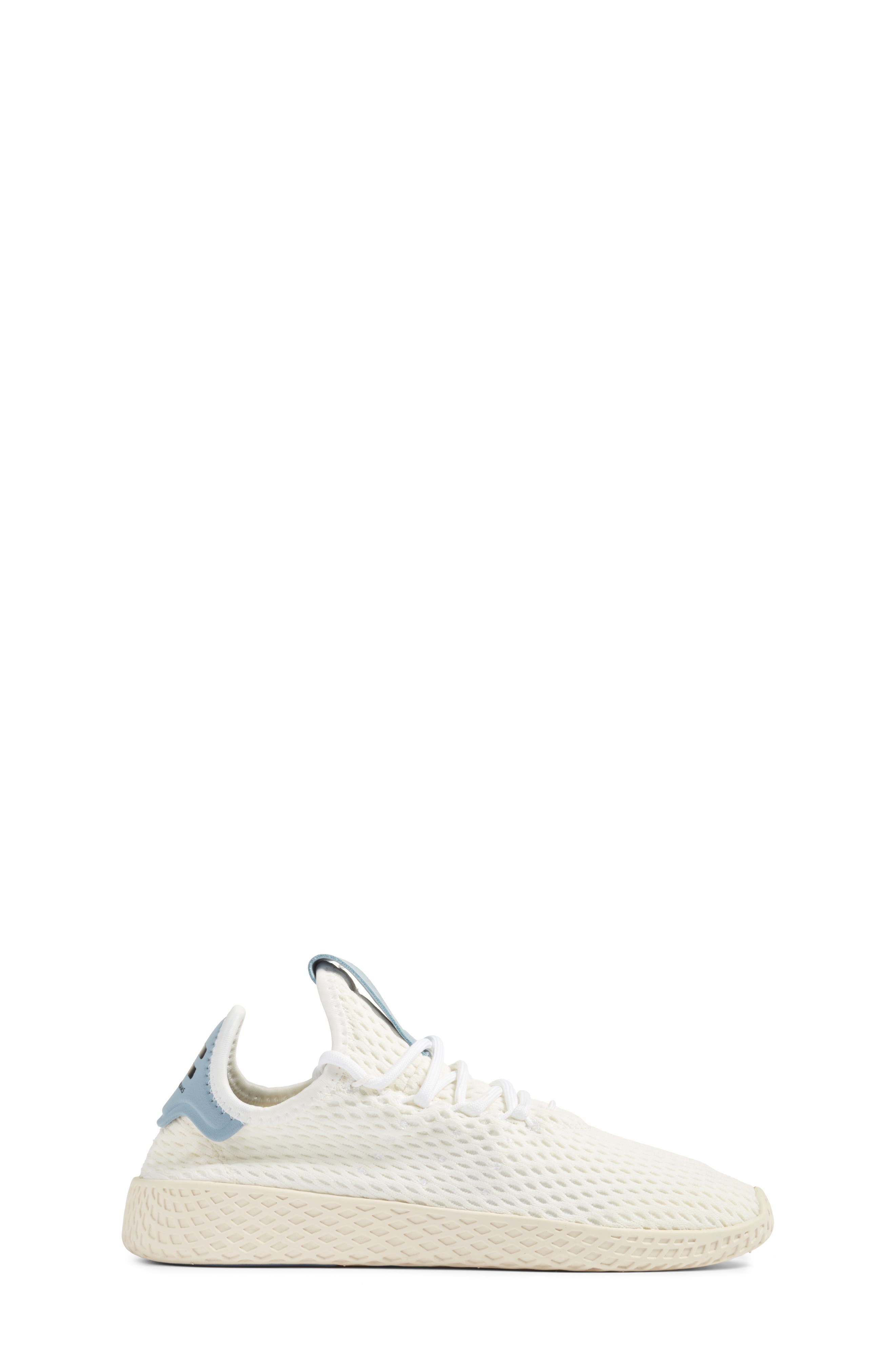 Originals x Pharrell Williams The Summers Mesh Sneaker,                             Alternate thumbnail 3, color,                             Footwear White/ Tactile Blue