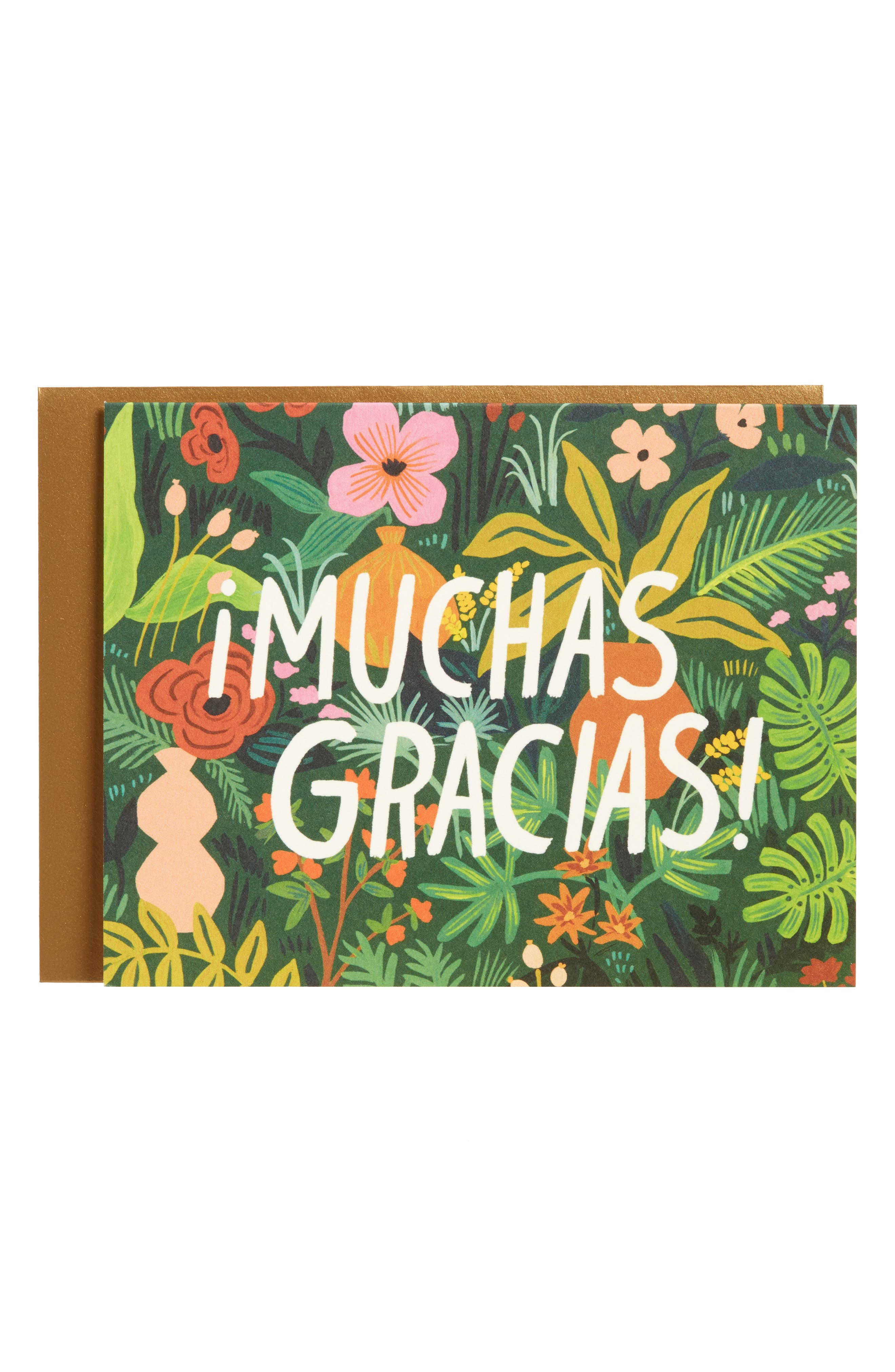 Rifle Paper Co. Muchas Gracias Set of 8 Thank You Notes