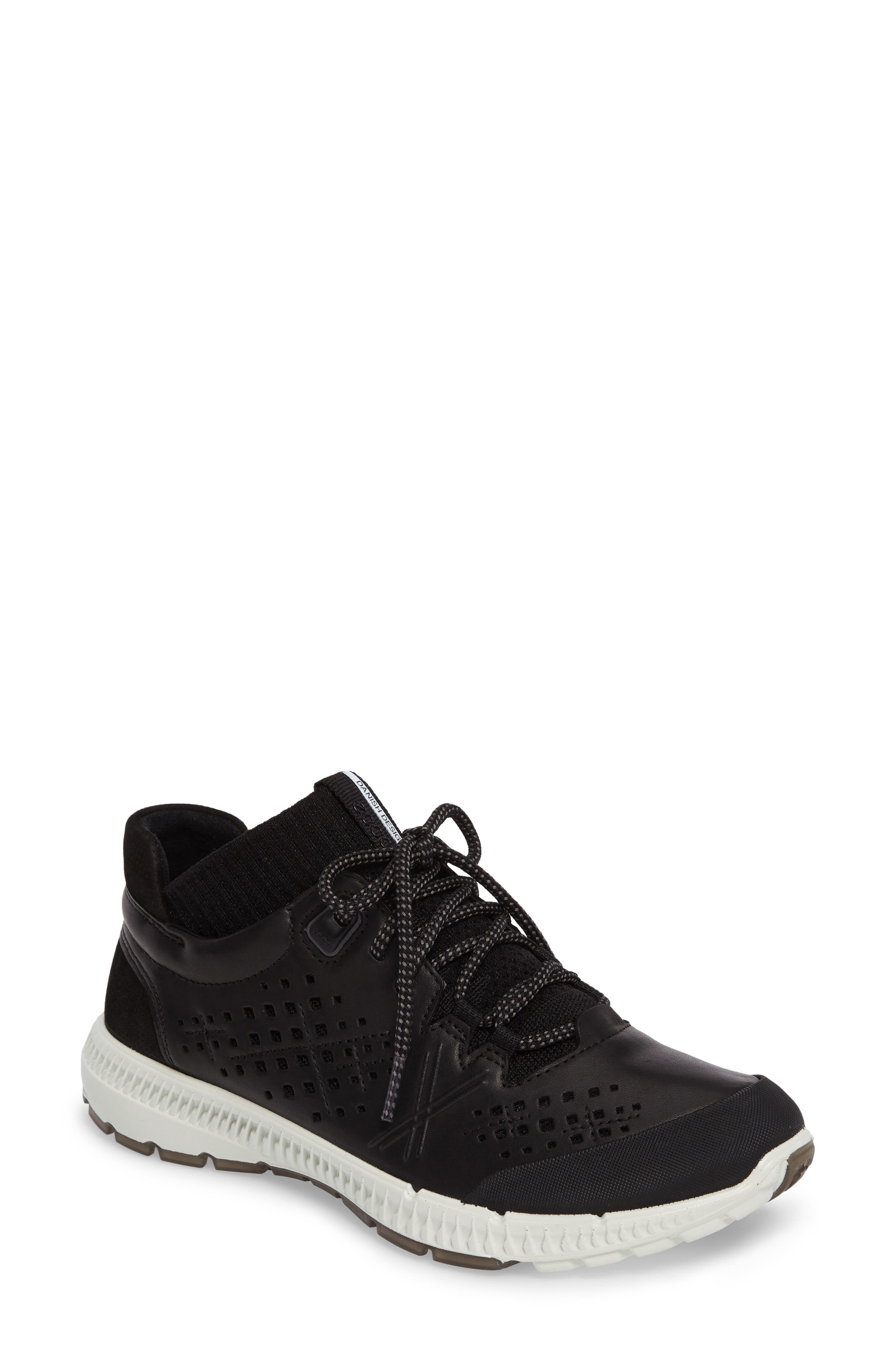 Intrinsic TR Sneaker,                         Main,                         color, Black Leather