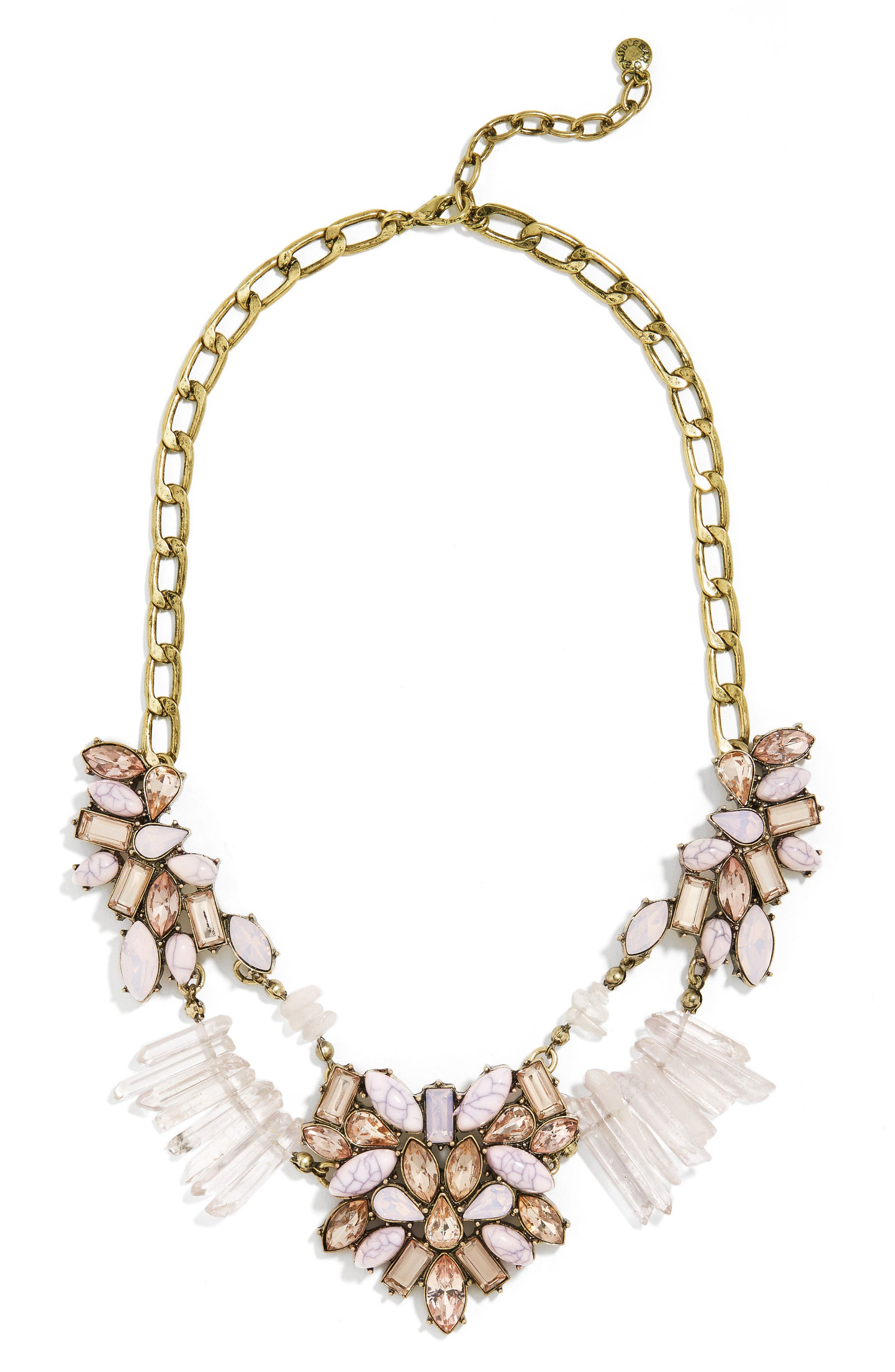 BAUBLEBAR Lyla Crystal & Quartz Bib Necklace
