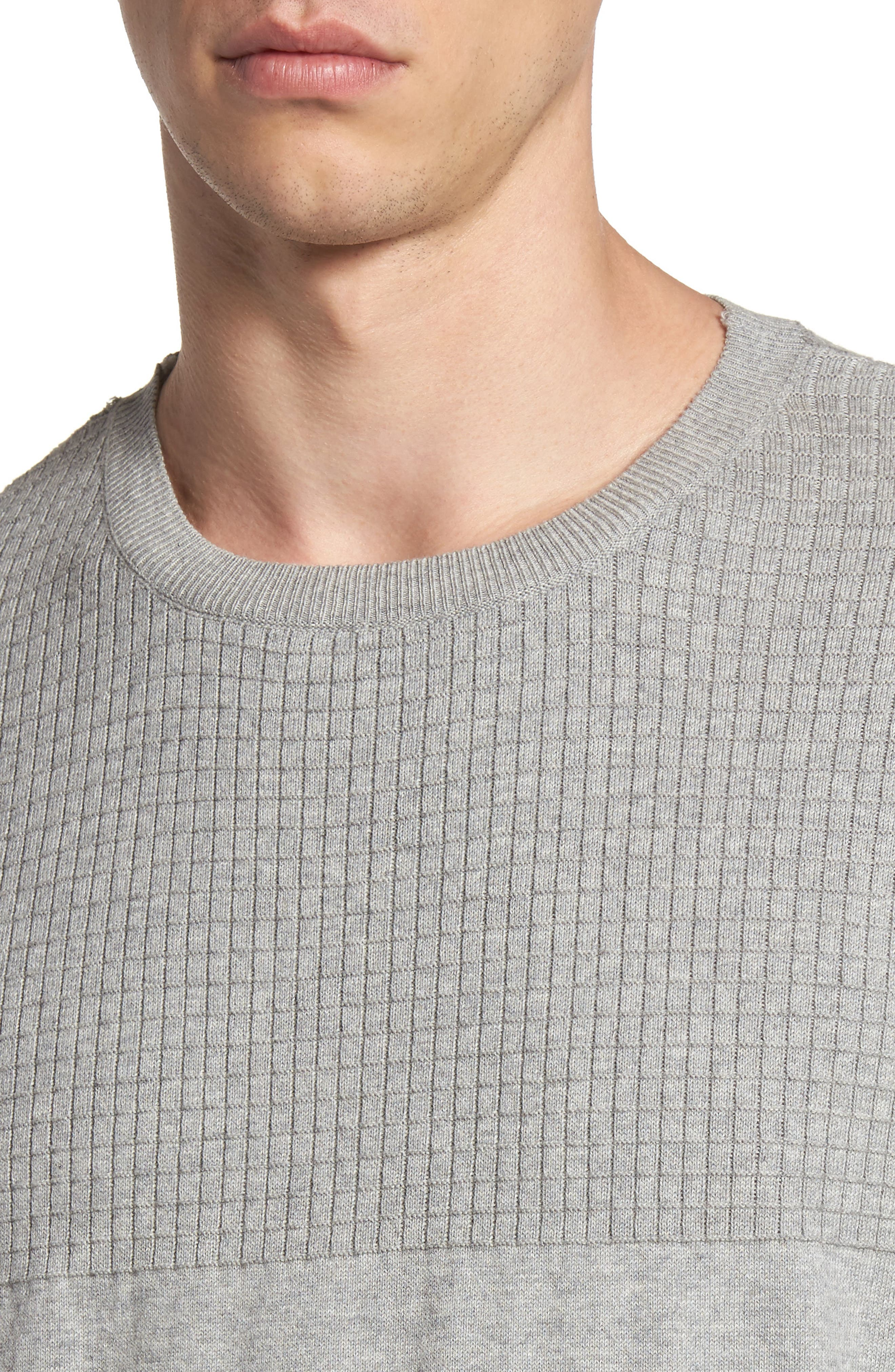 Textured Sweater,                             Alternate thumbnail 5, color,                             Grey