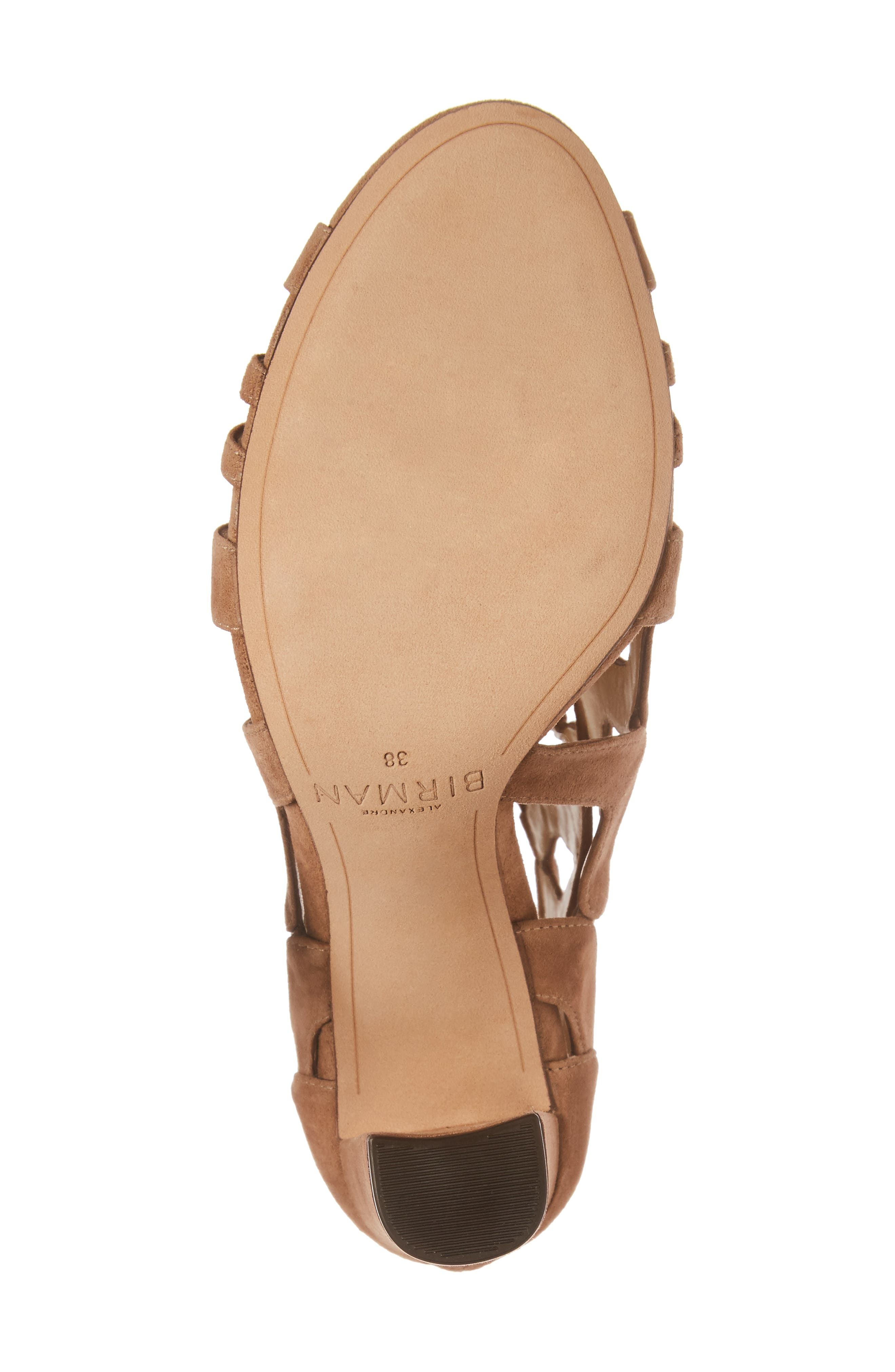 Loretta Cage Bootie,                             Alternate thumbnail 6, color,                             Light Beige