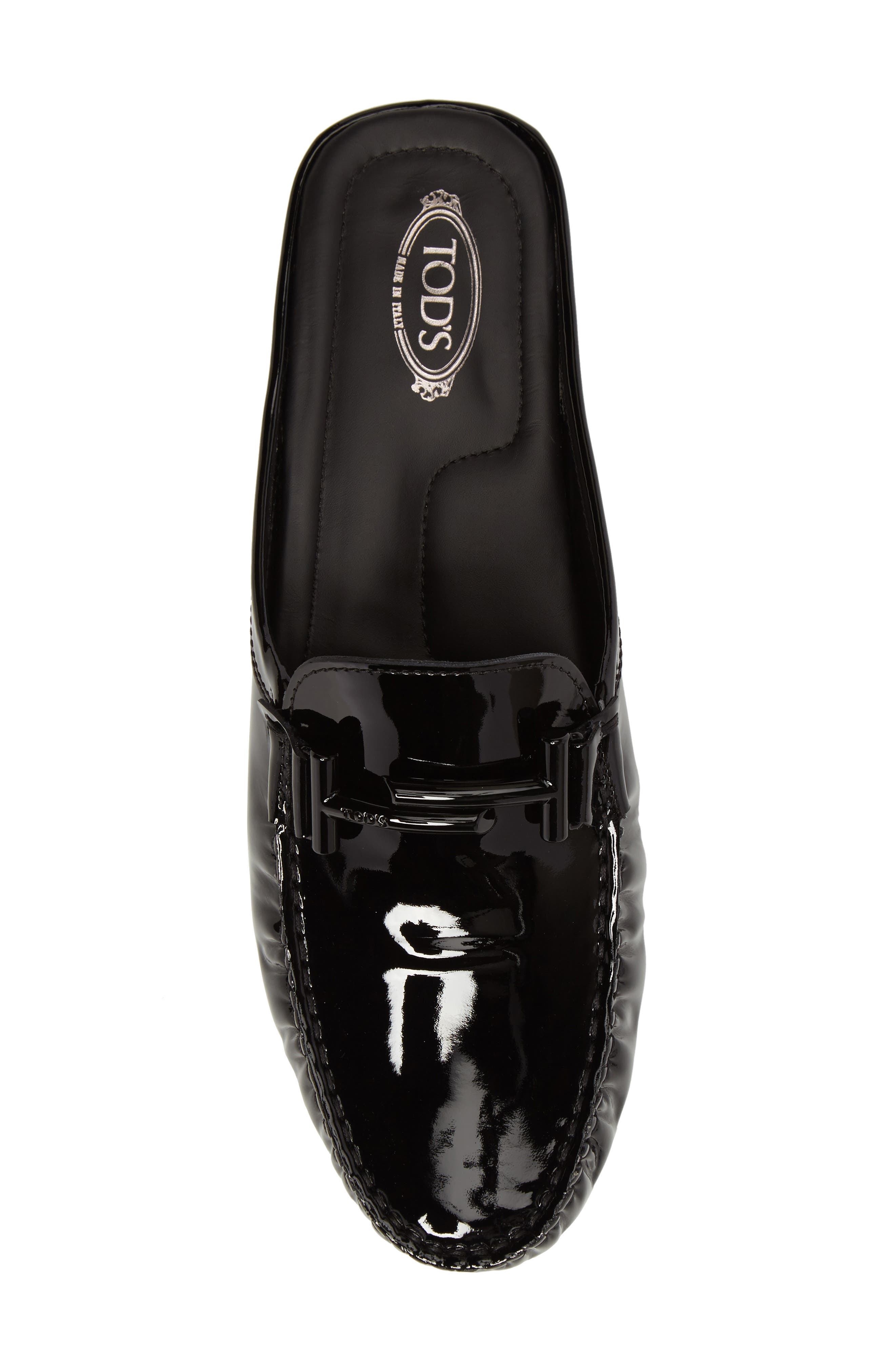 Gommino Double-T Loafer Mule,                             Alternate thumbnail 5, color,                             Black Patent