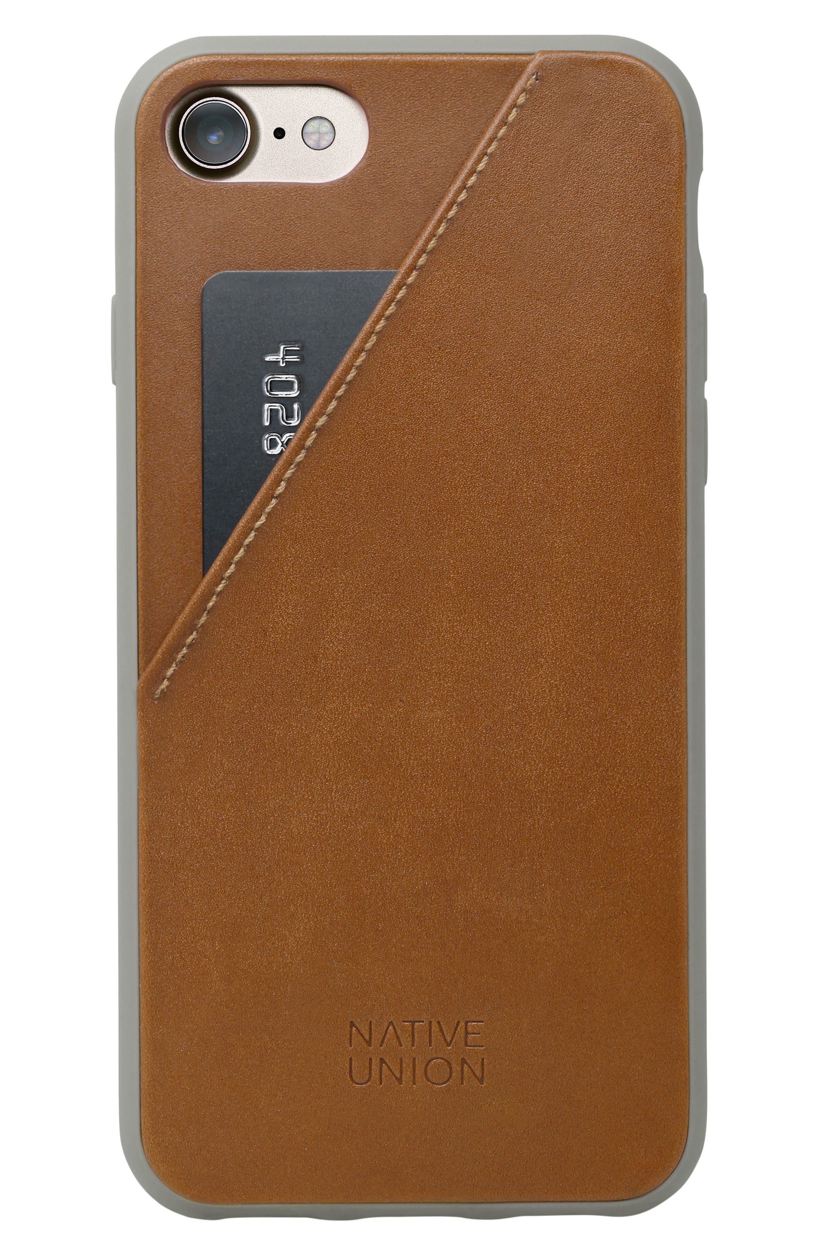 CLIC Card iPhone 7/8 & 7/8 Plus Case,                         Main,                         color, Tan/ Taupe