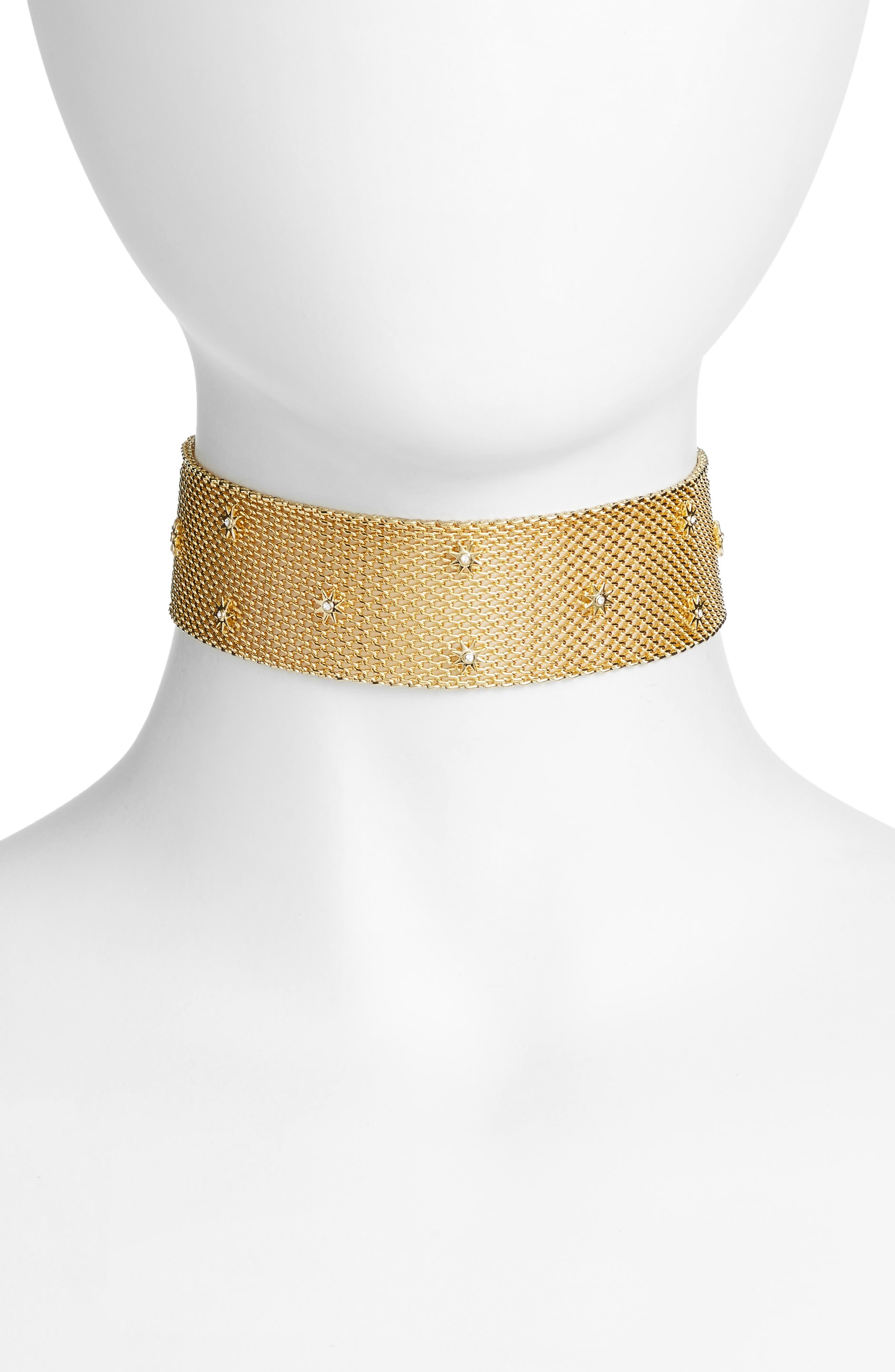 LUV AJ Starburst Mesh Choker Necklace