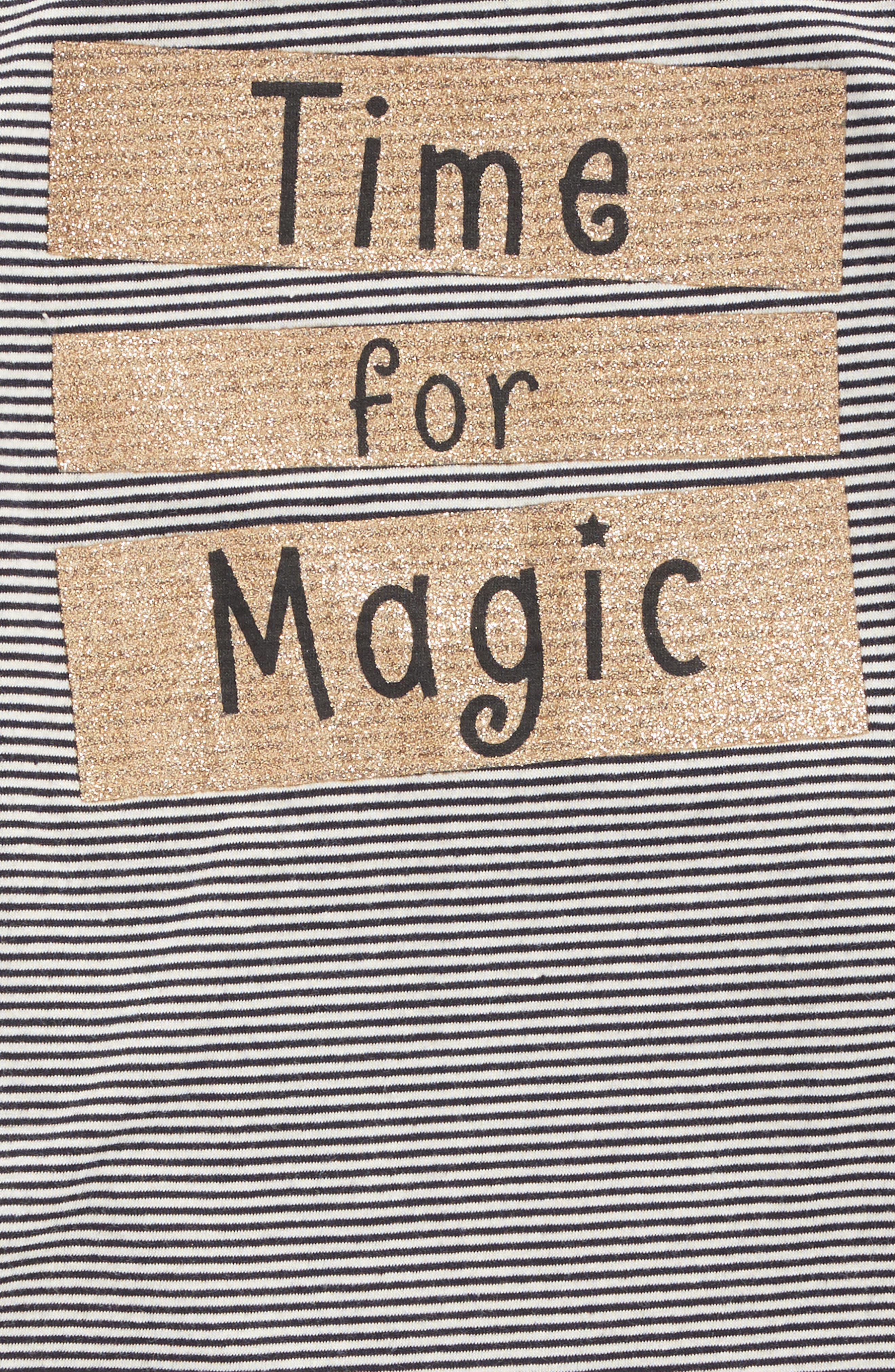 Alternate Image 2  - Truly Me Time For Magic Stripe Tee (Baby Girls)