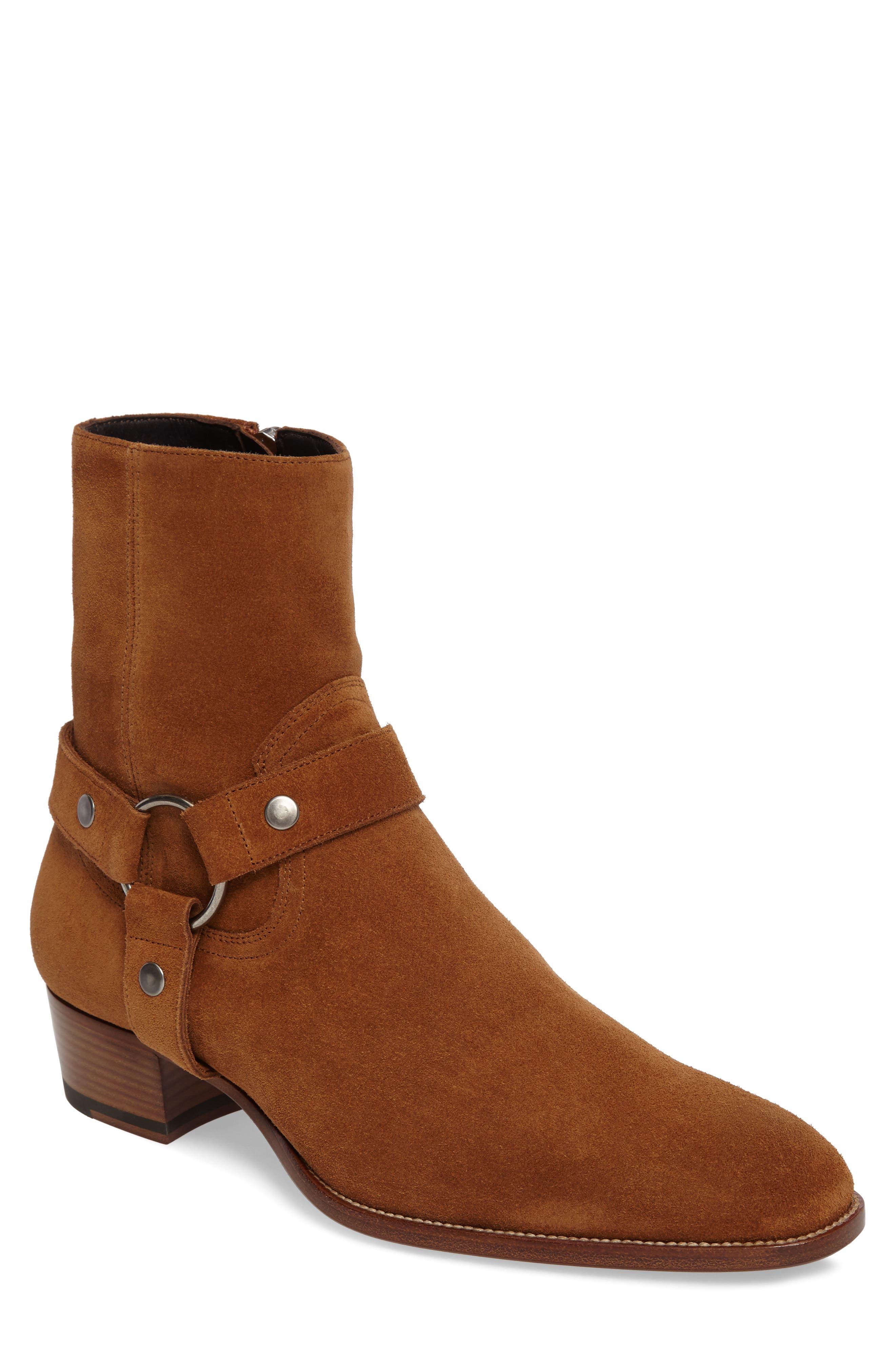 Saint Laurent Wyatt Harness Boot (Men)