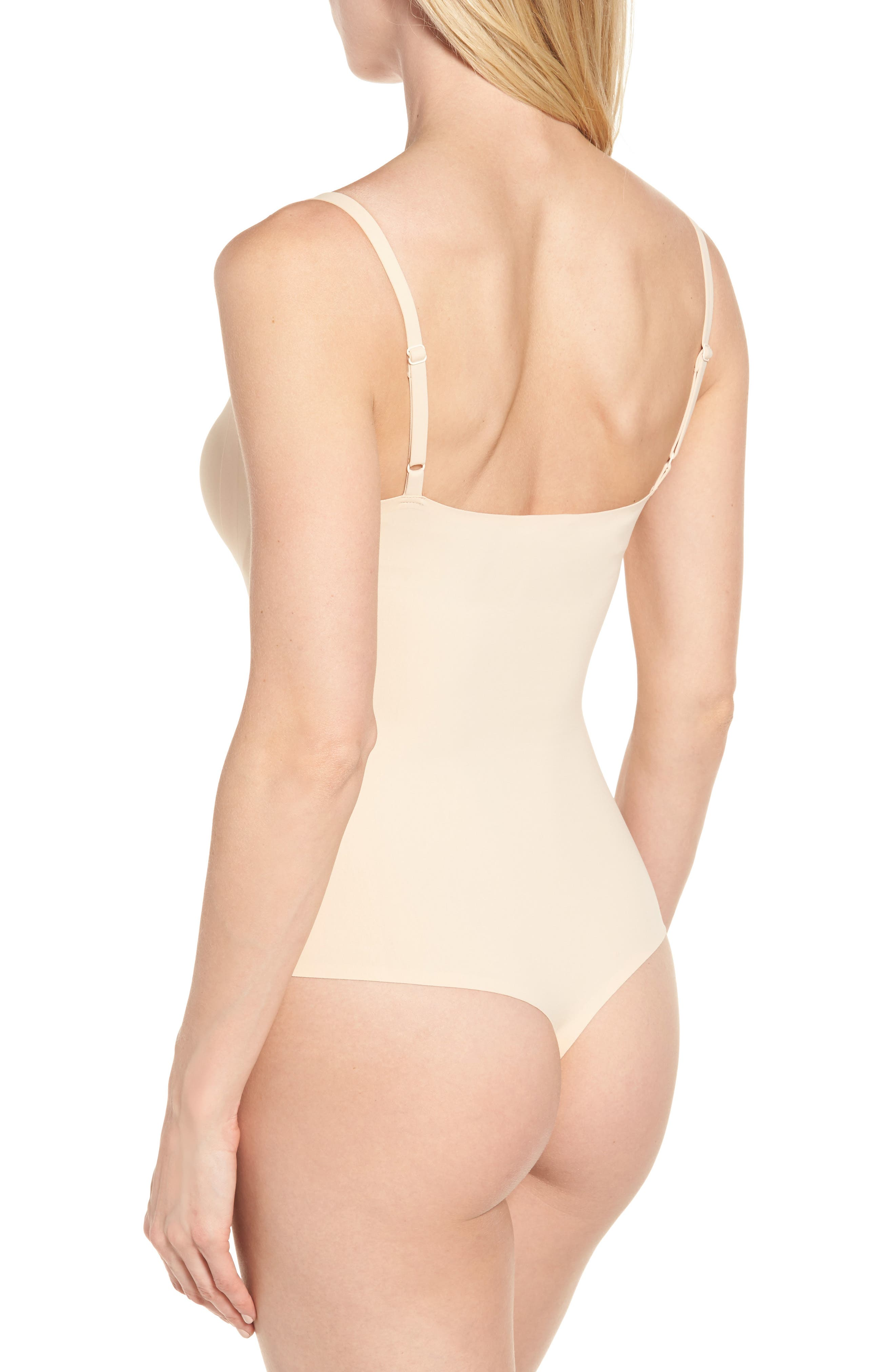 Shaping Thong Bodysuit,                             Alternate thumbnail 2, color,                             Nude