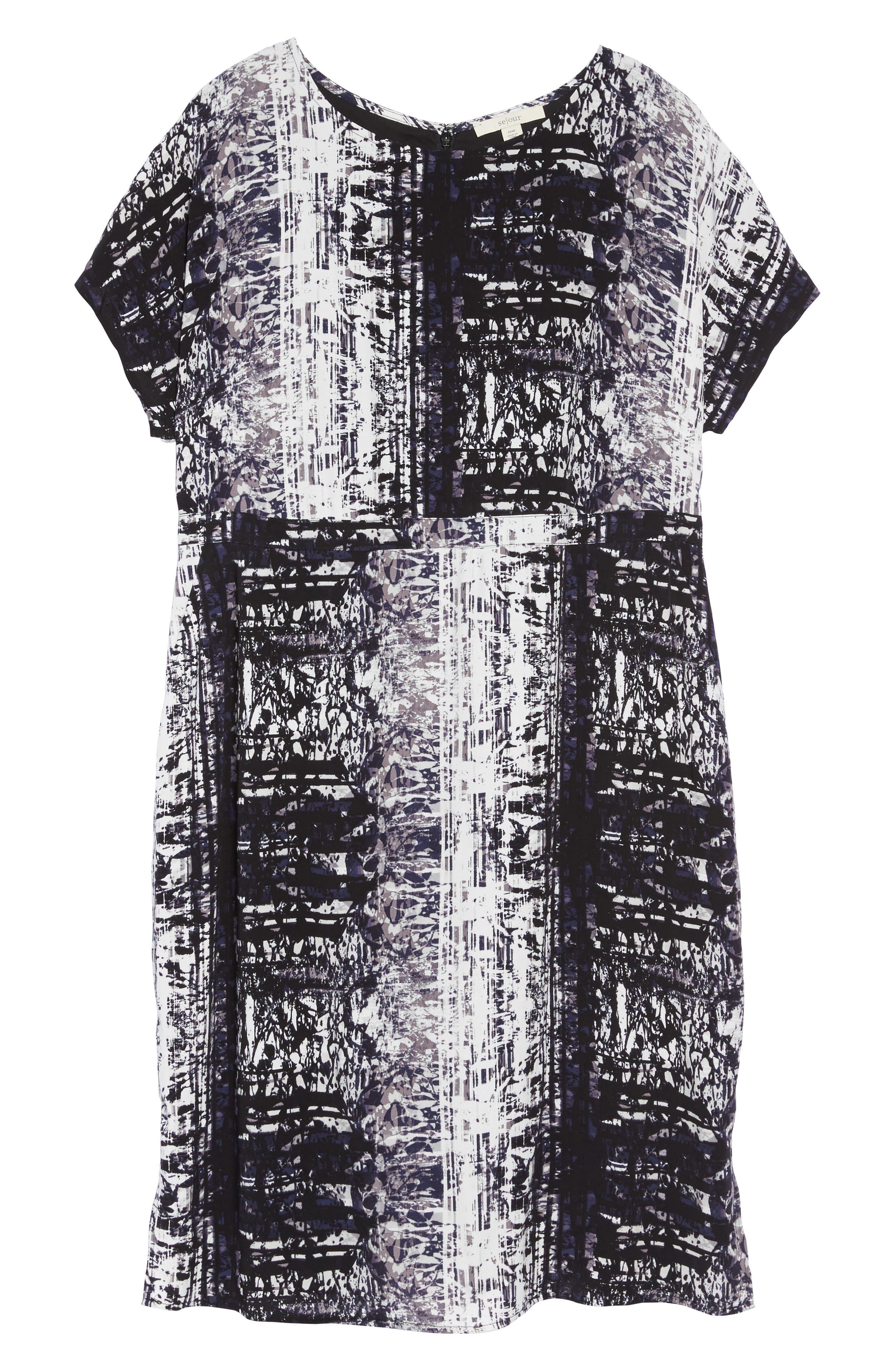 Alternate Image 6  - Sejour Dolman Sleeve Shift Dress (Plus Size)