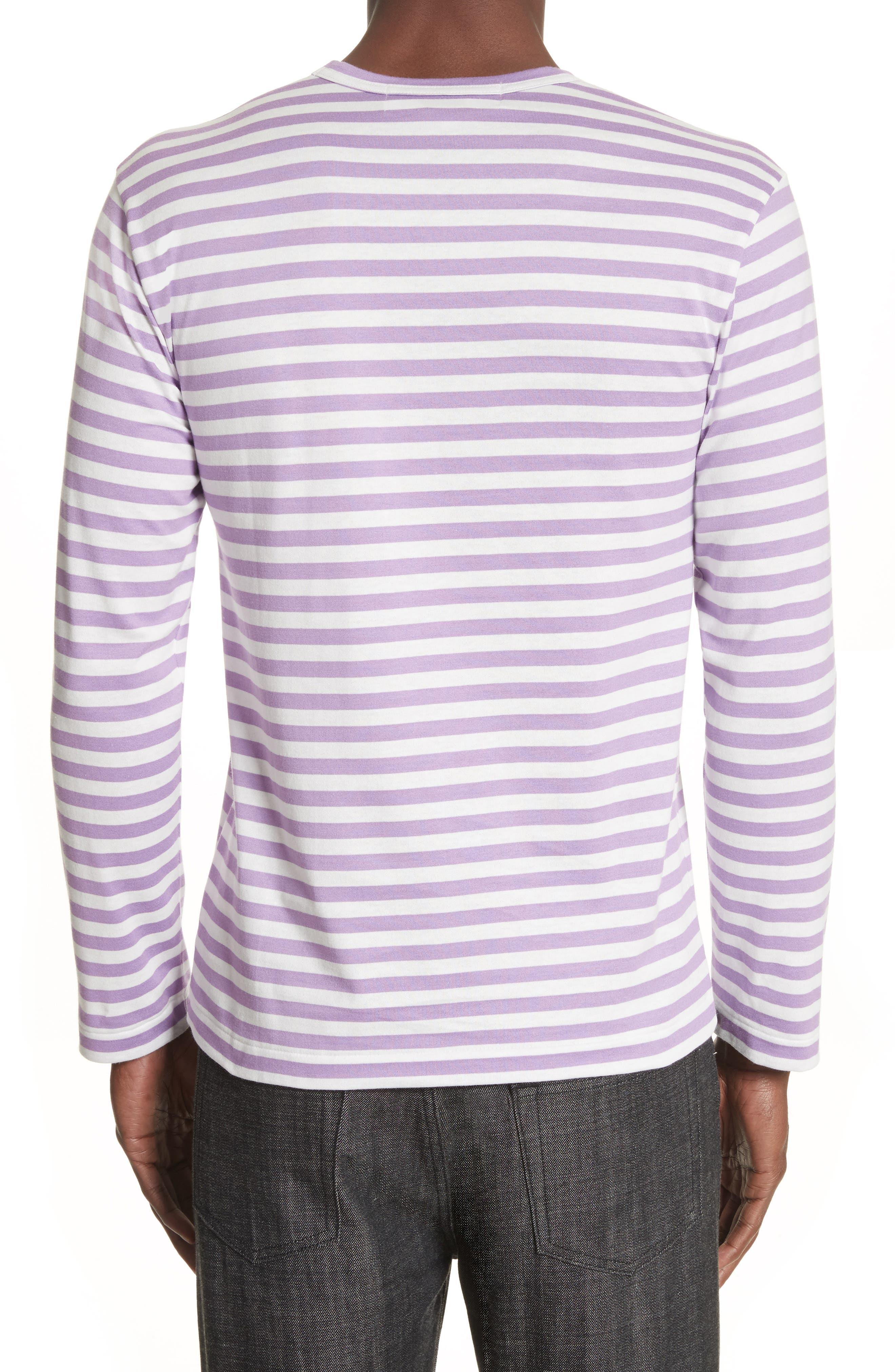 Alternate Image 2  - Comme des Garçons PLAY Long Sleeve Stripe Crewneck T-Shirt