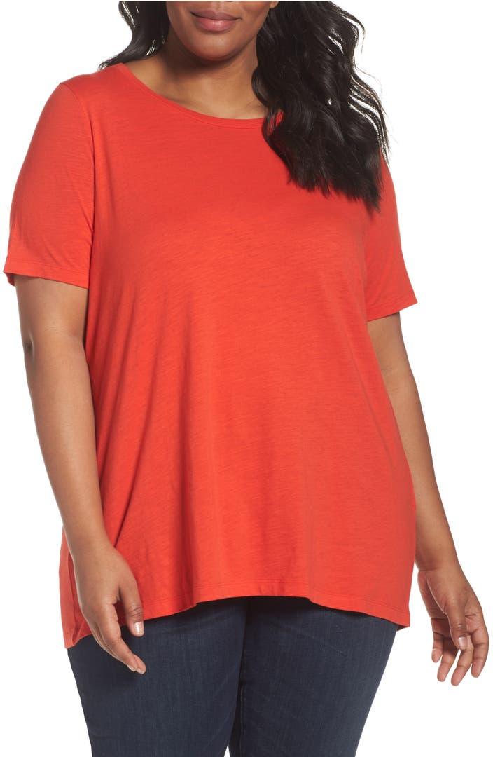 Eileen fisher organic cotton tee plus size nordstrom for Eileen fisher organic cotton t shirt