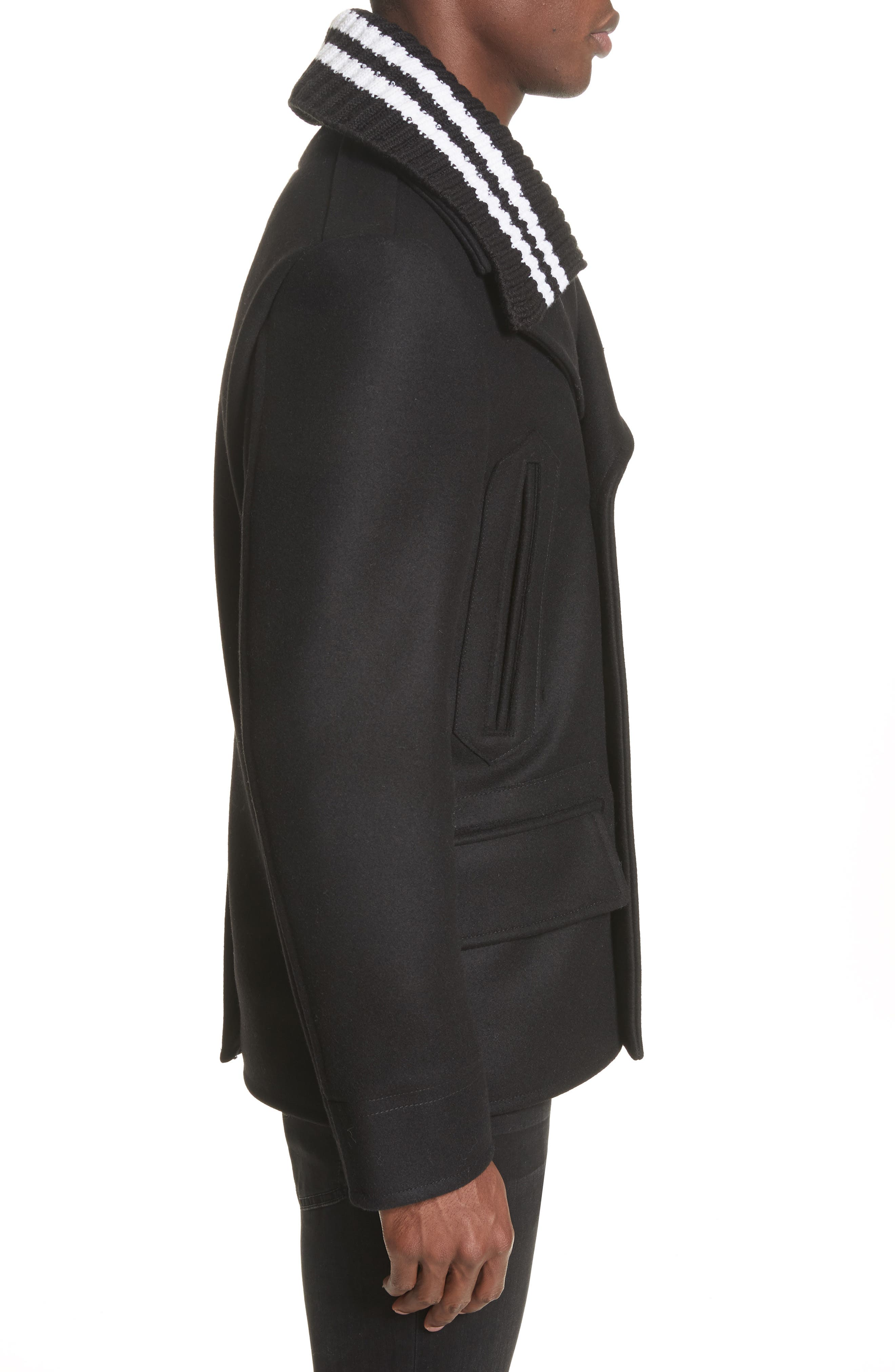Alternate Image 3  - Givenchy Knit Collar Peacoat