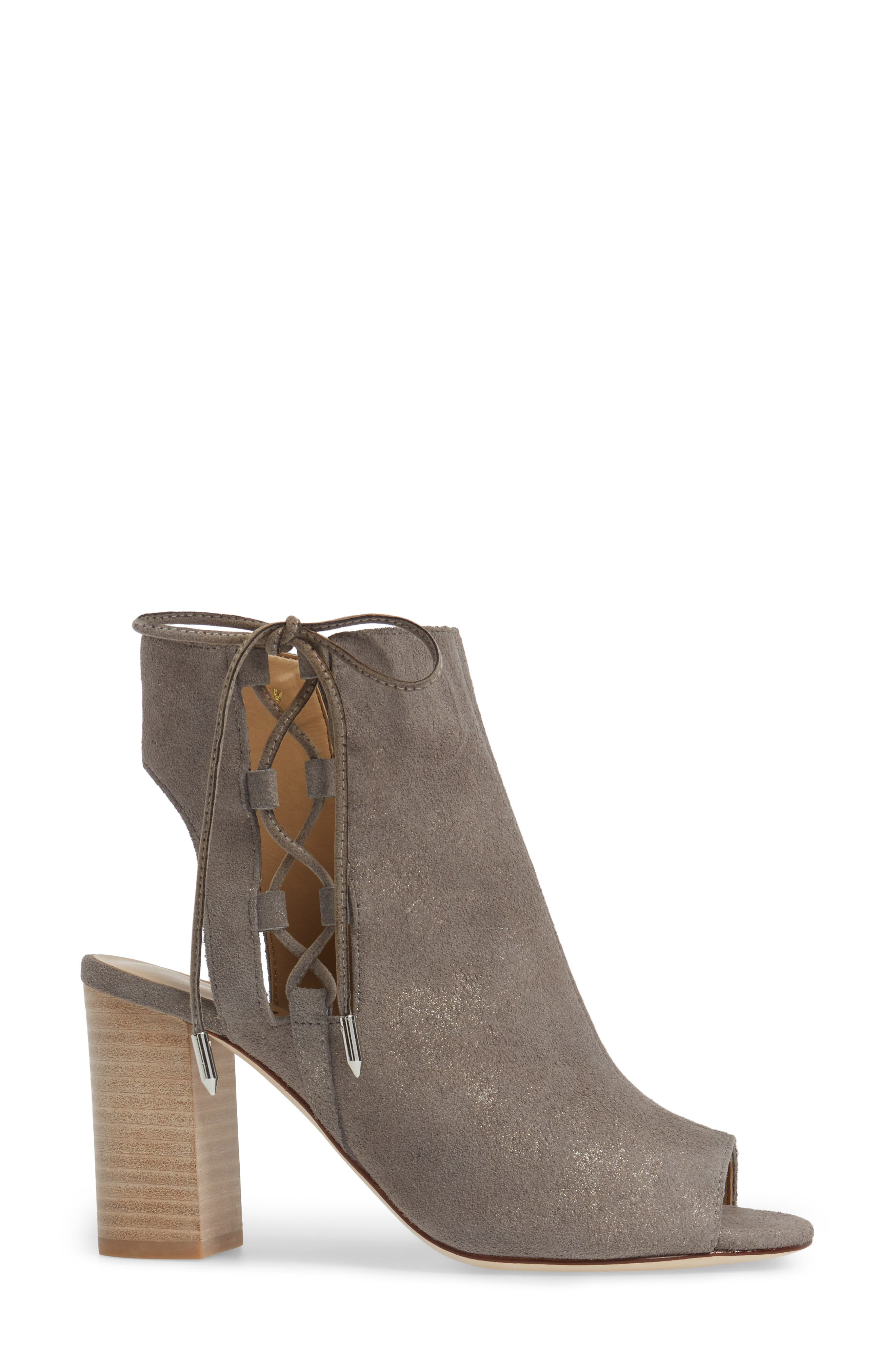 Better Block Heel Sandal,                             Alternate thumbnail 3, color,                             Taupe Rory Suede