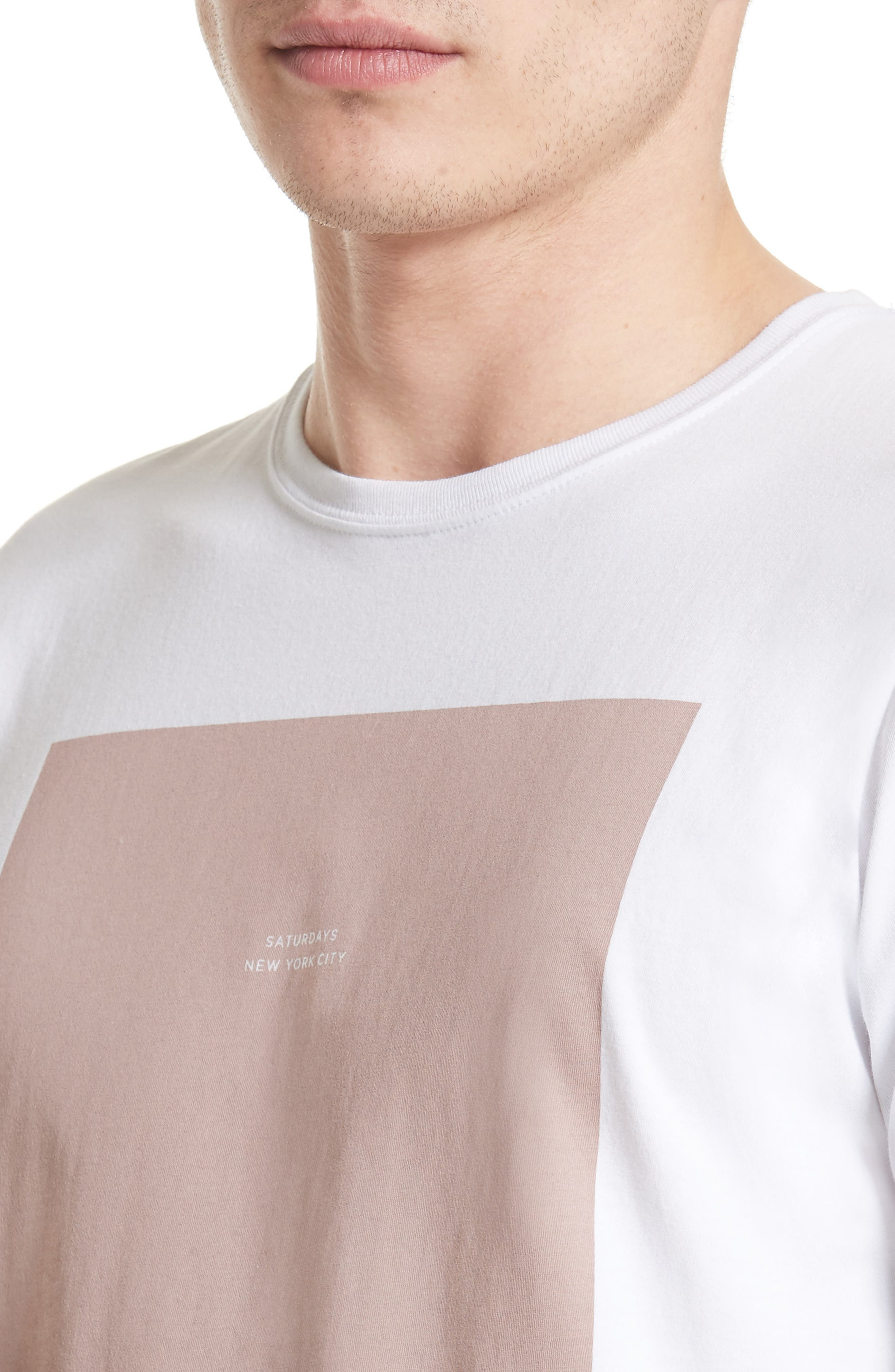 Alternate Image 4  - Saturdays NYC Rectangle Logo Graphic T-Shirt