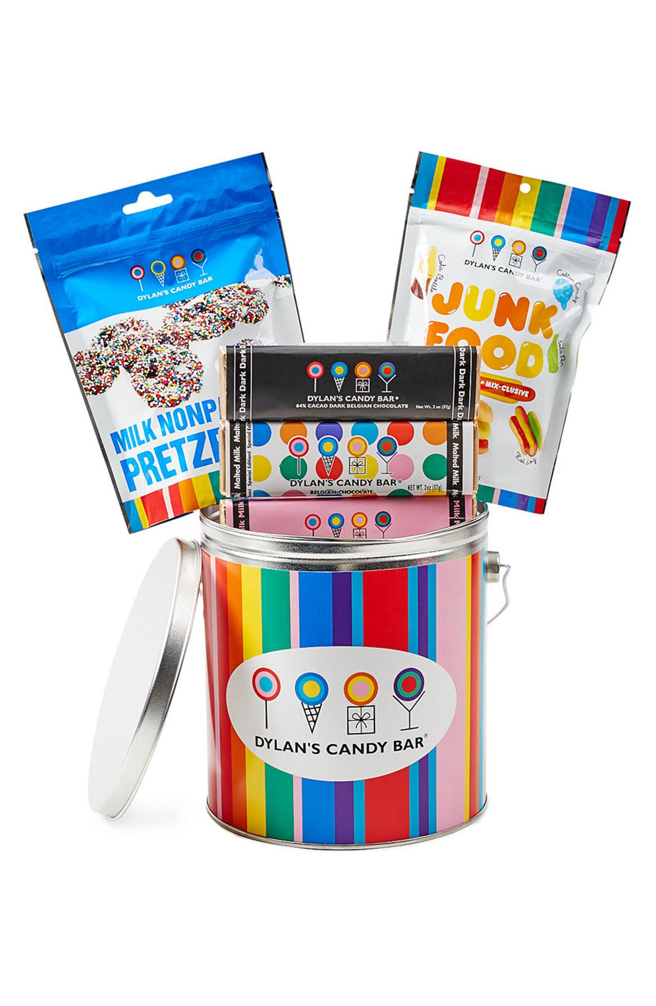 Mini Party In A Bucket Candy Assortment,                         Main,                         color, Blue Multi