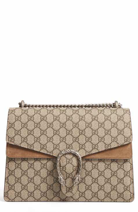 df8bd3068dc Gucci Large Dionysus GG Supreme Canvas   Suede Shoulder Bag