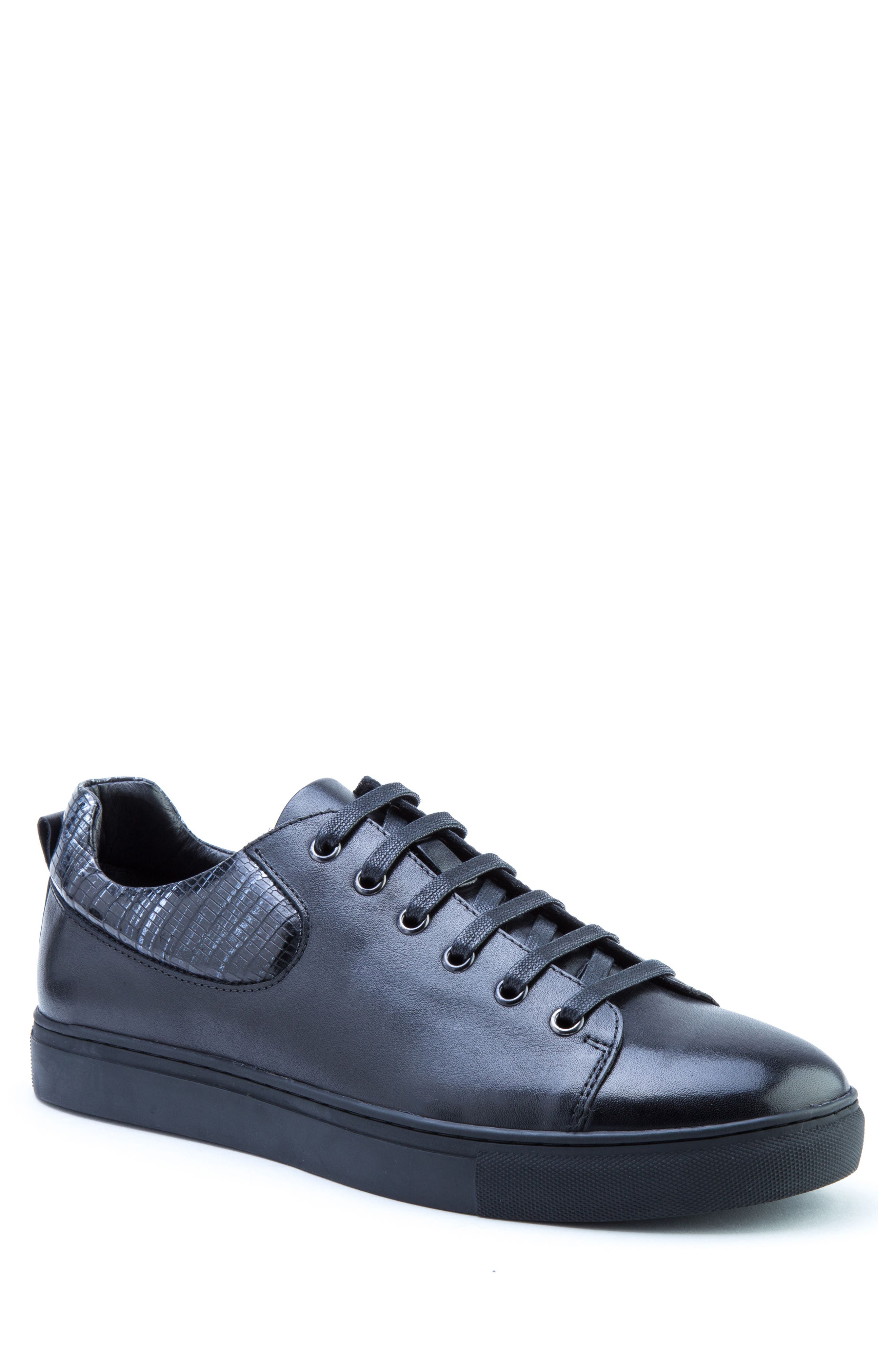 Robinson Sneaker,                         Main,                         color, Black Leather