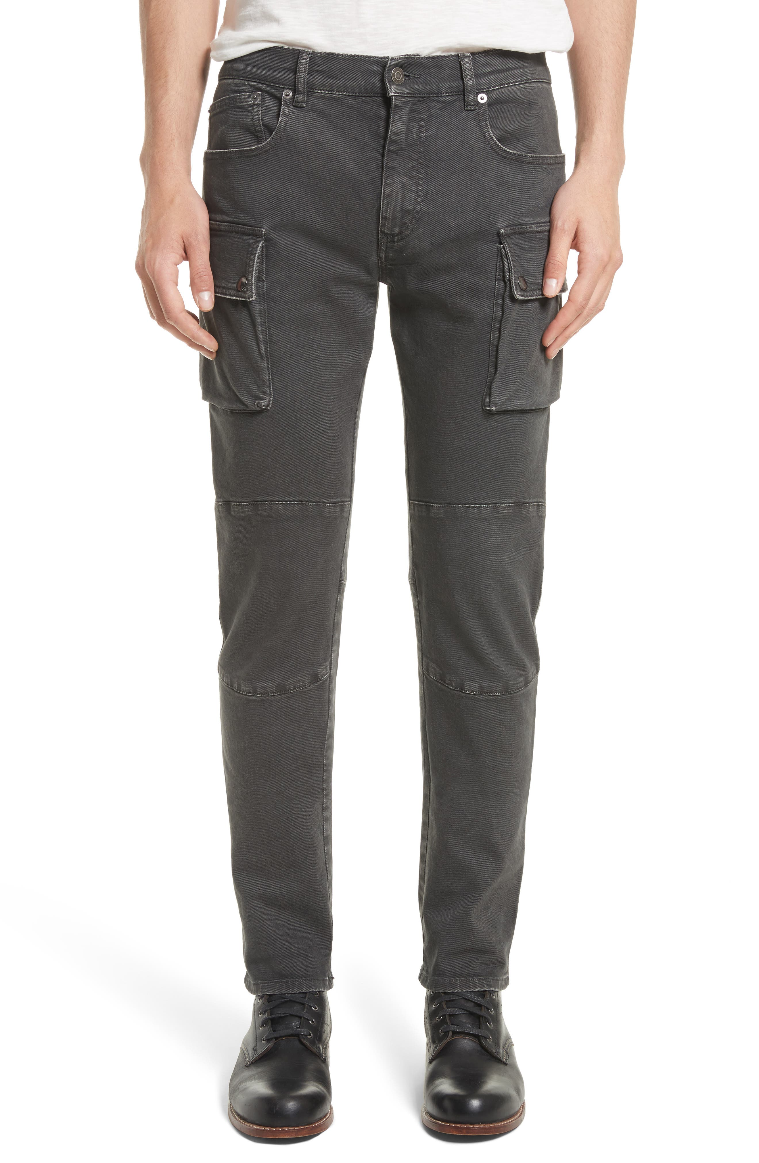Westward Tapered Fit Cargo Jeans,                         Main,                         color, Black