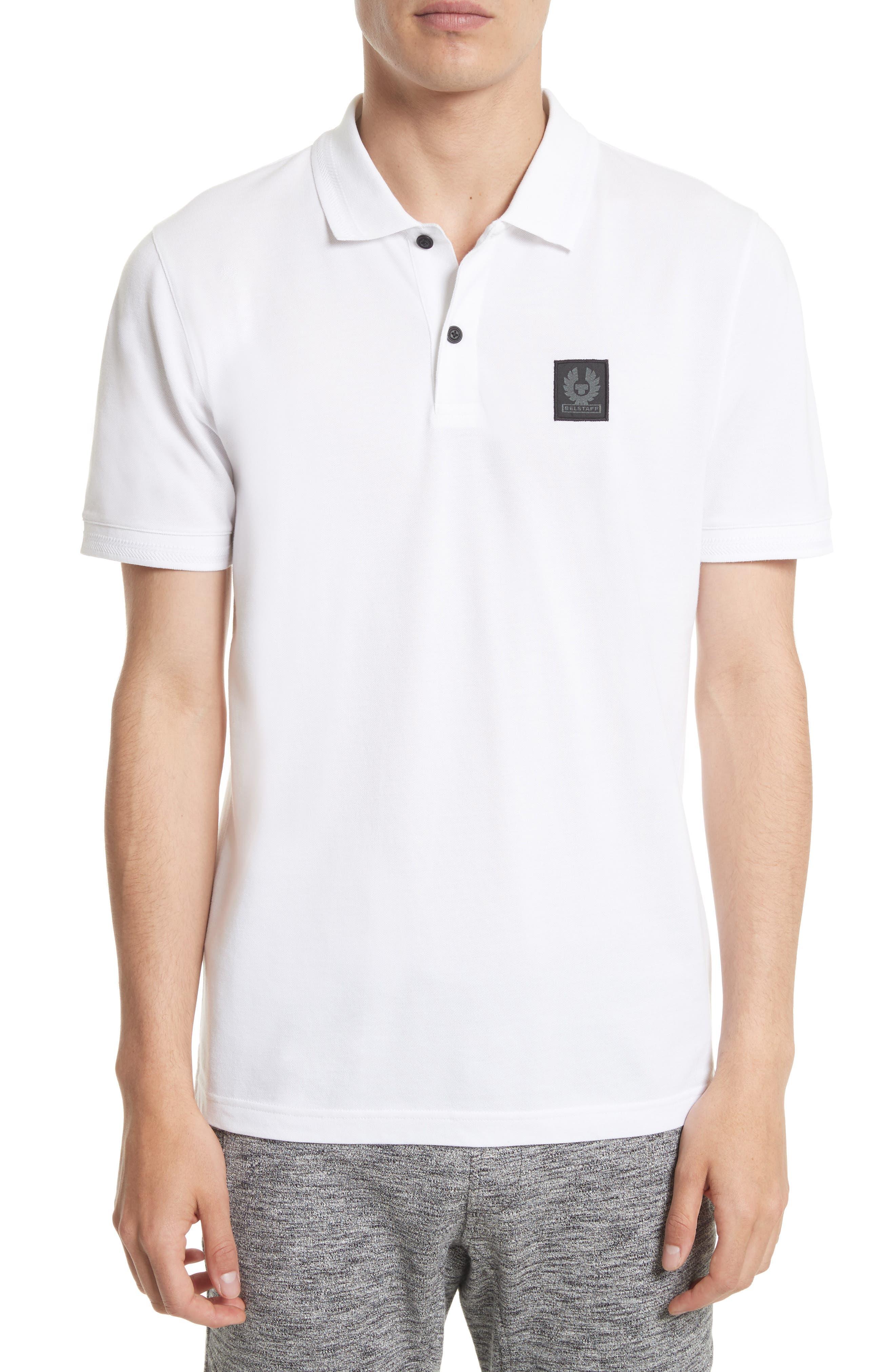 Stannett Piqué Polo,                         Main,                         color, White