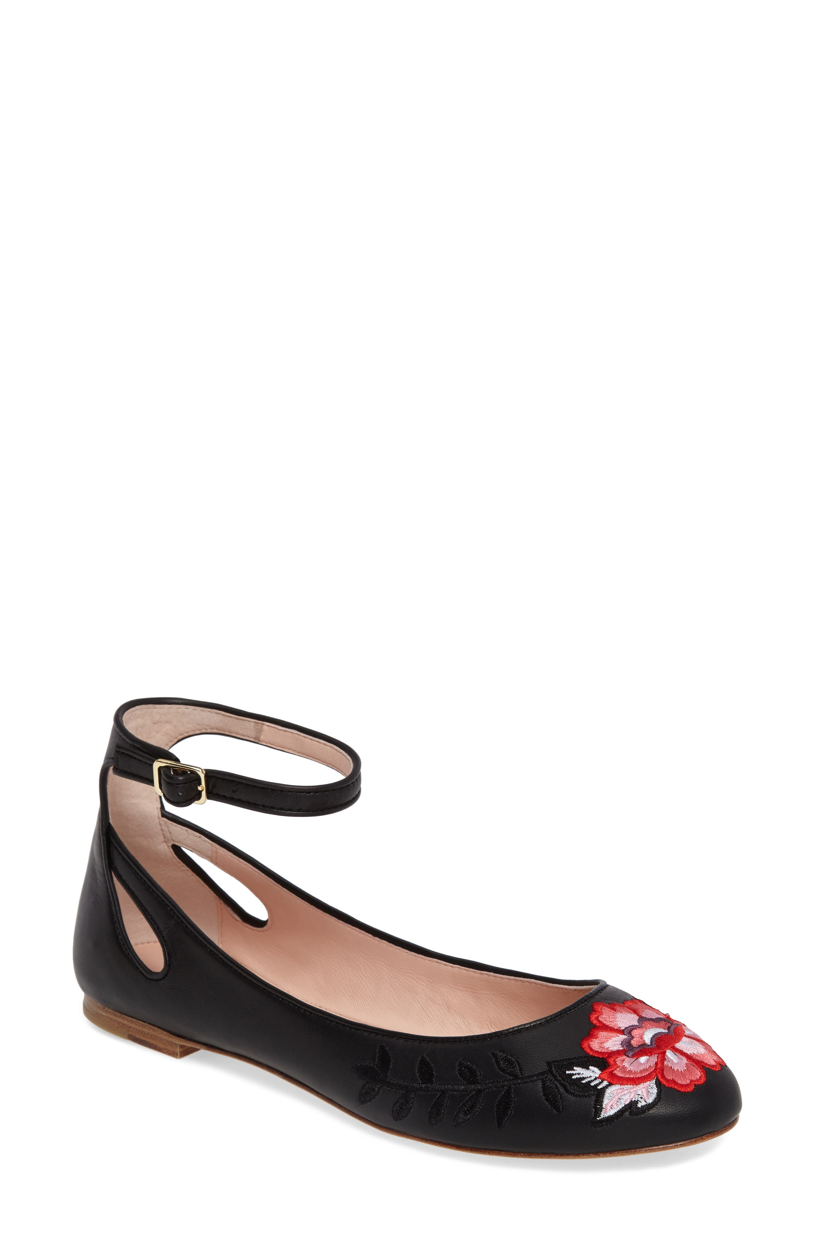 kate spade new york waren embroidered flat (Women)