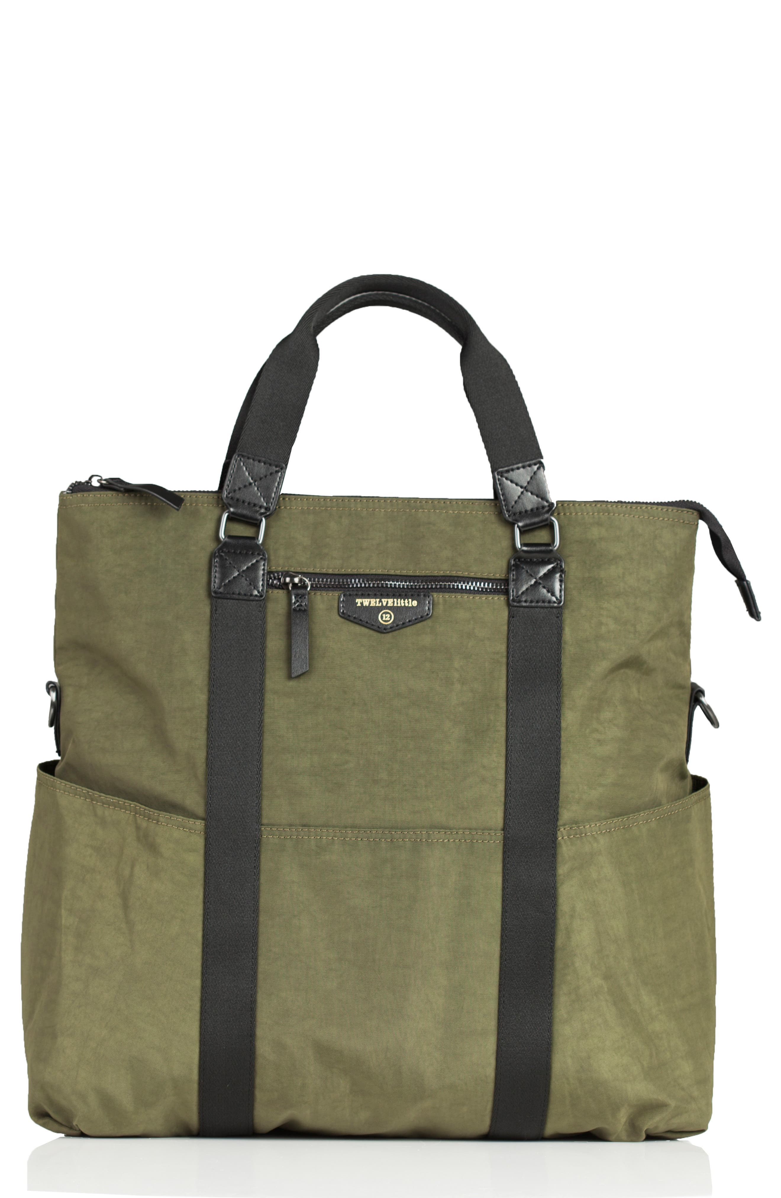 3-in-1 Foldover Diaper Tote,                         Main,                         color, Olive