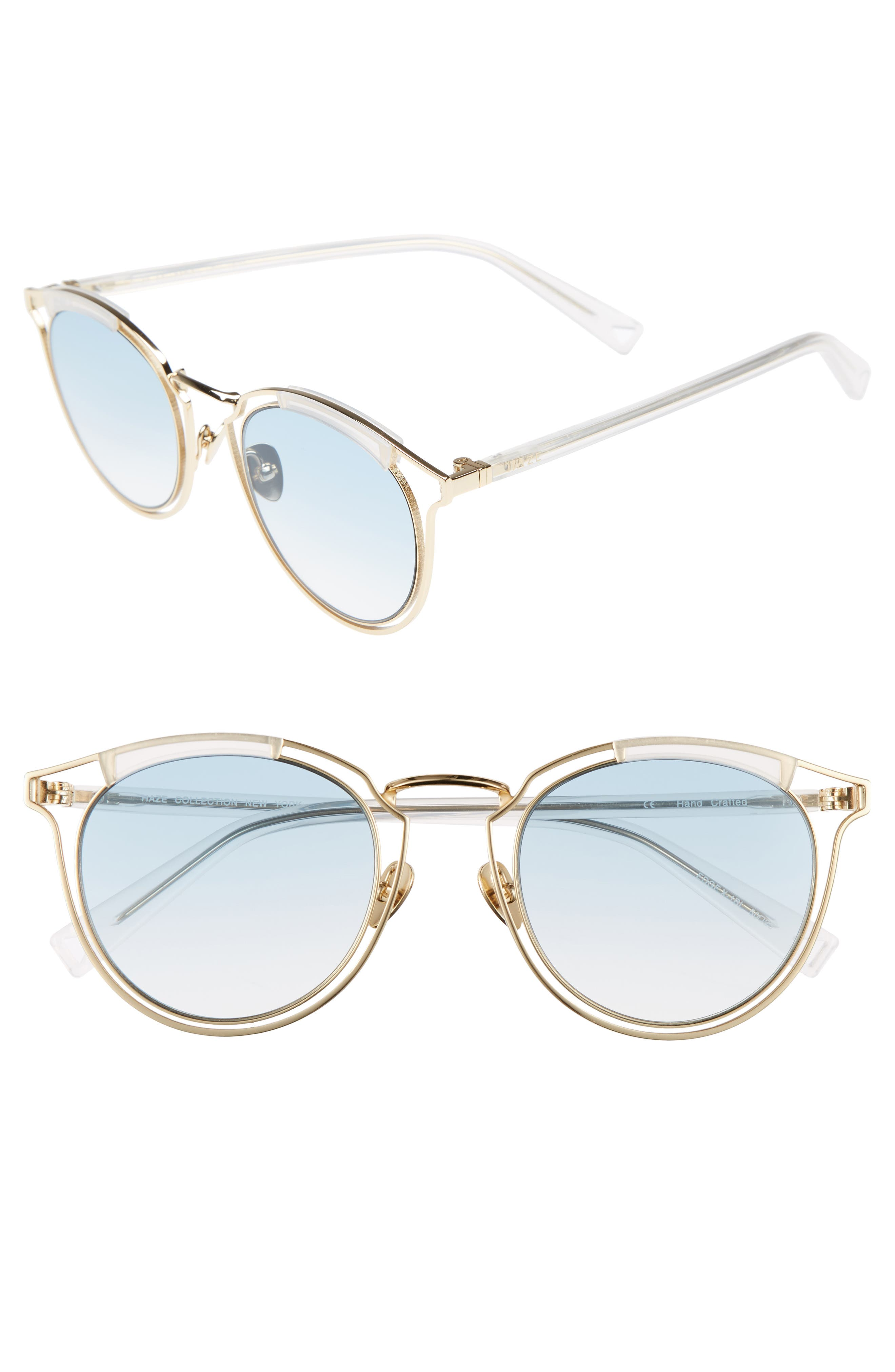 Edge X 50mm Modified Round Sunglasses,                         Main,                         color, Sky