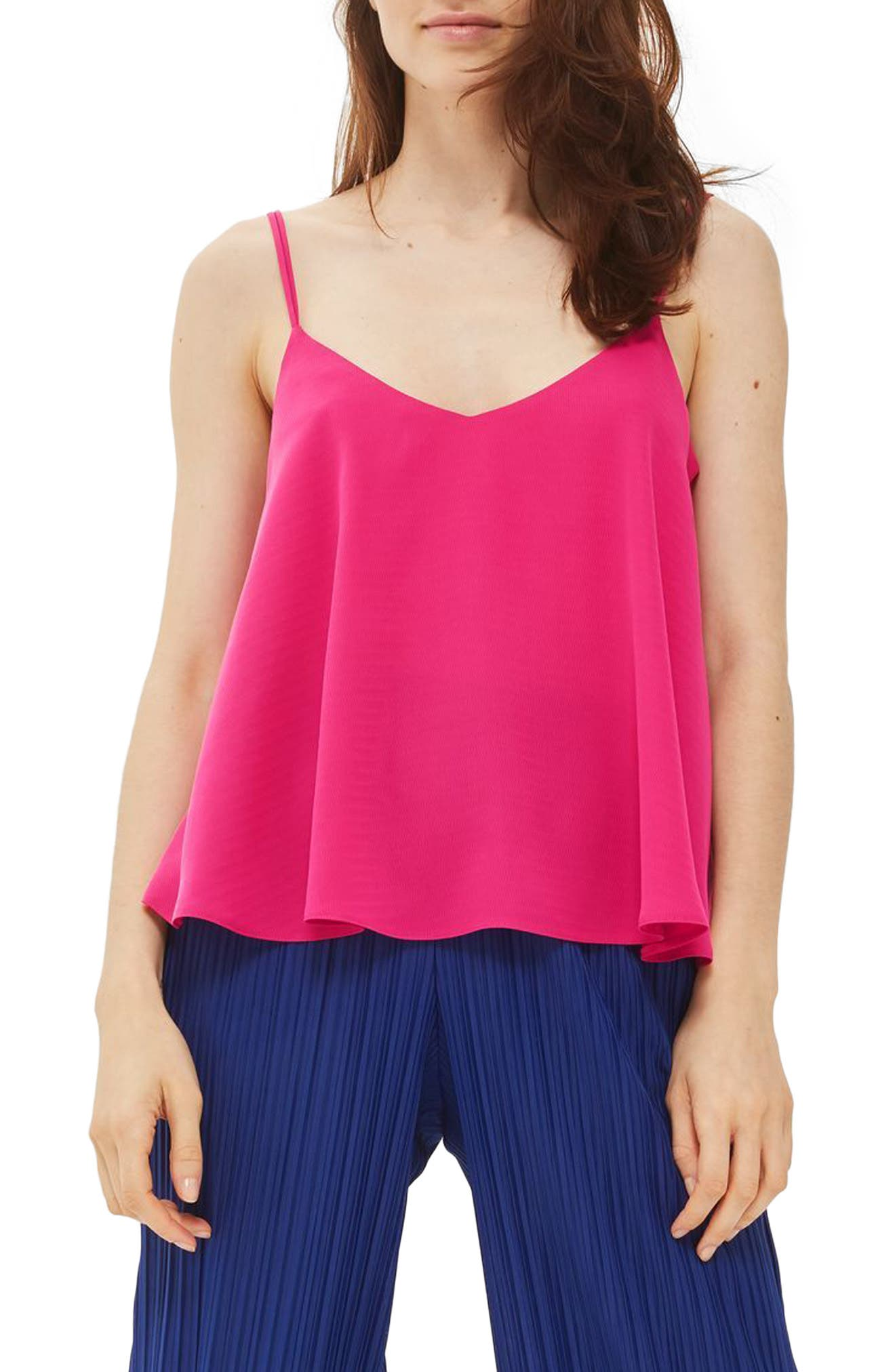 Alternate Image 1 Selected - Topshop Rouleau Swing Camisole (Regular & Petite)