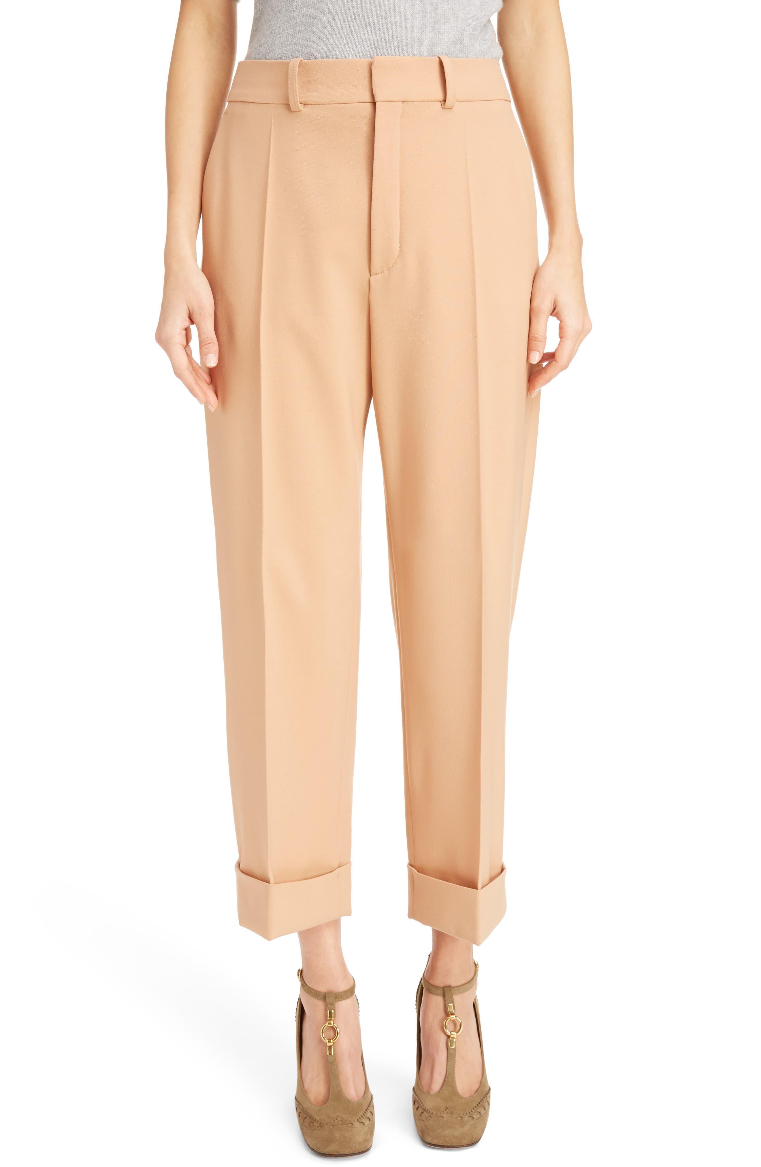 Chloé Cuffed Stretch Wool Pants