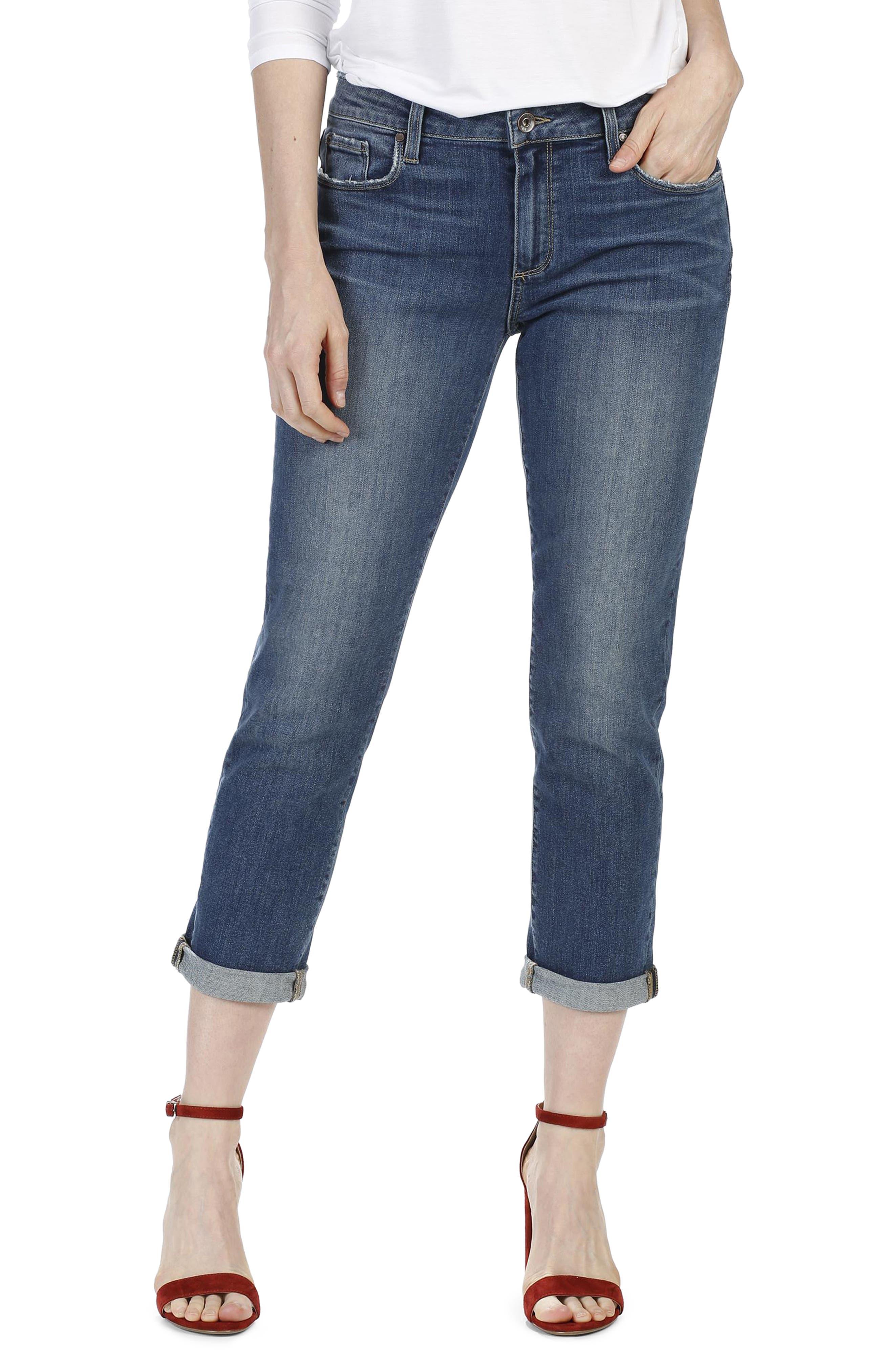 Brigitte Crop Boyfriend Jeans,                             Main thumbnail 1, color,                             Luca