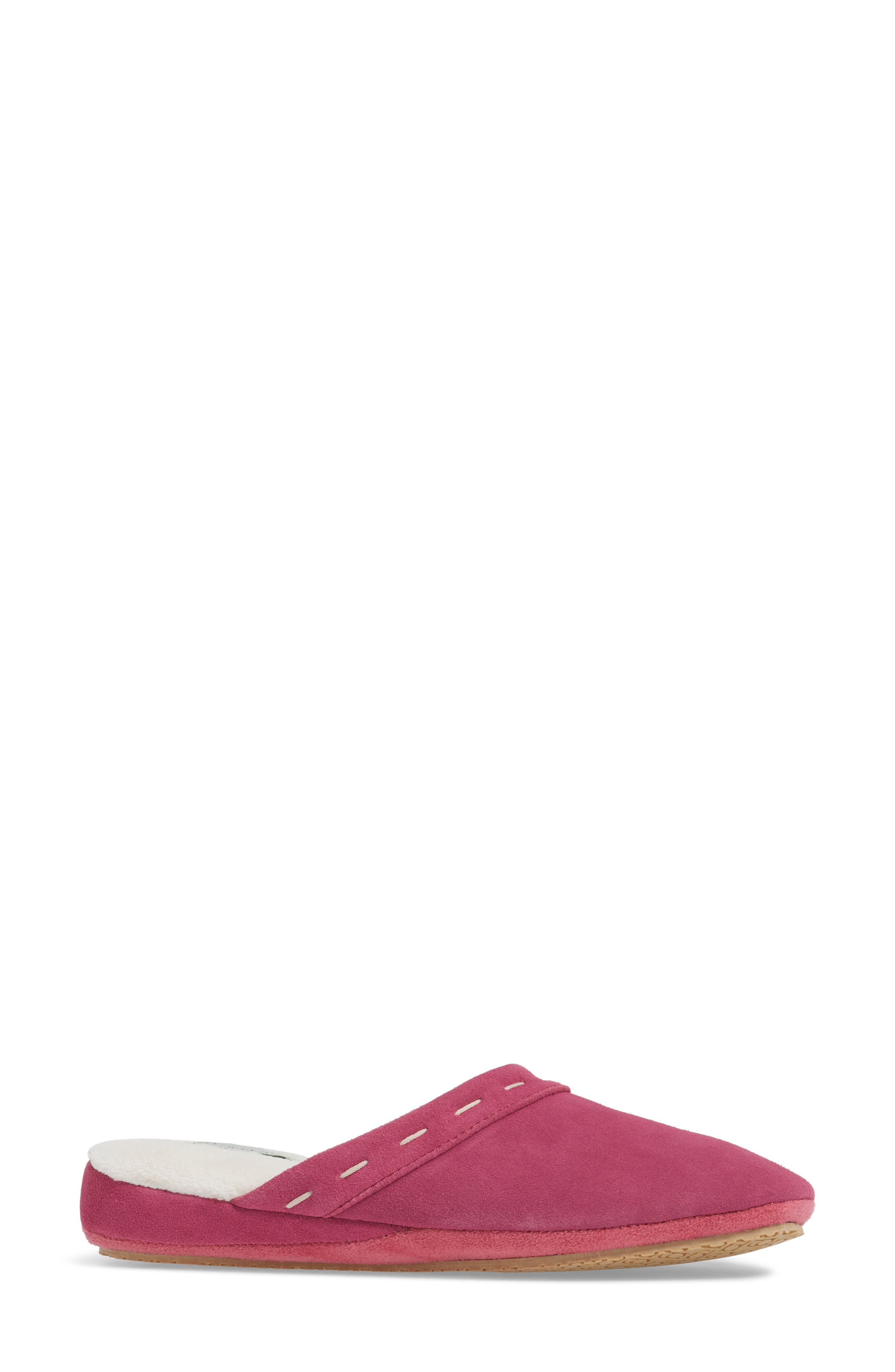 Mayfair Wedge Slipper,                             Alternate thumbnail 3, color,                             Hot Pink Suede