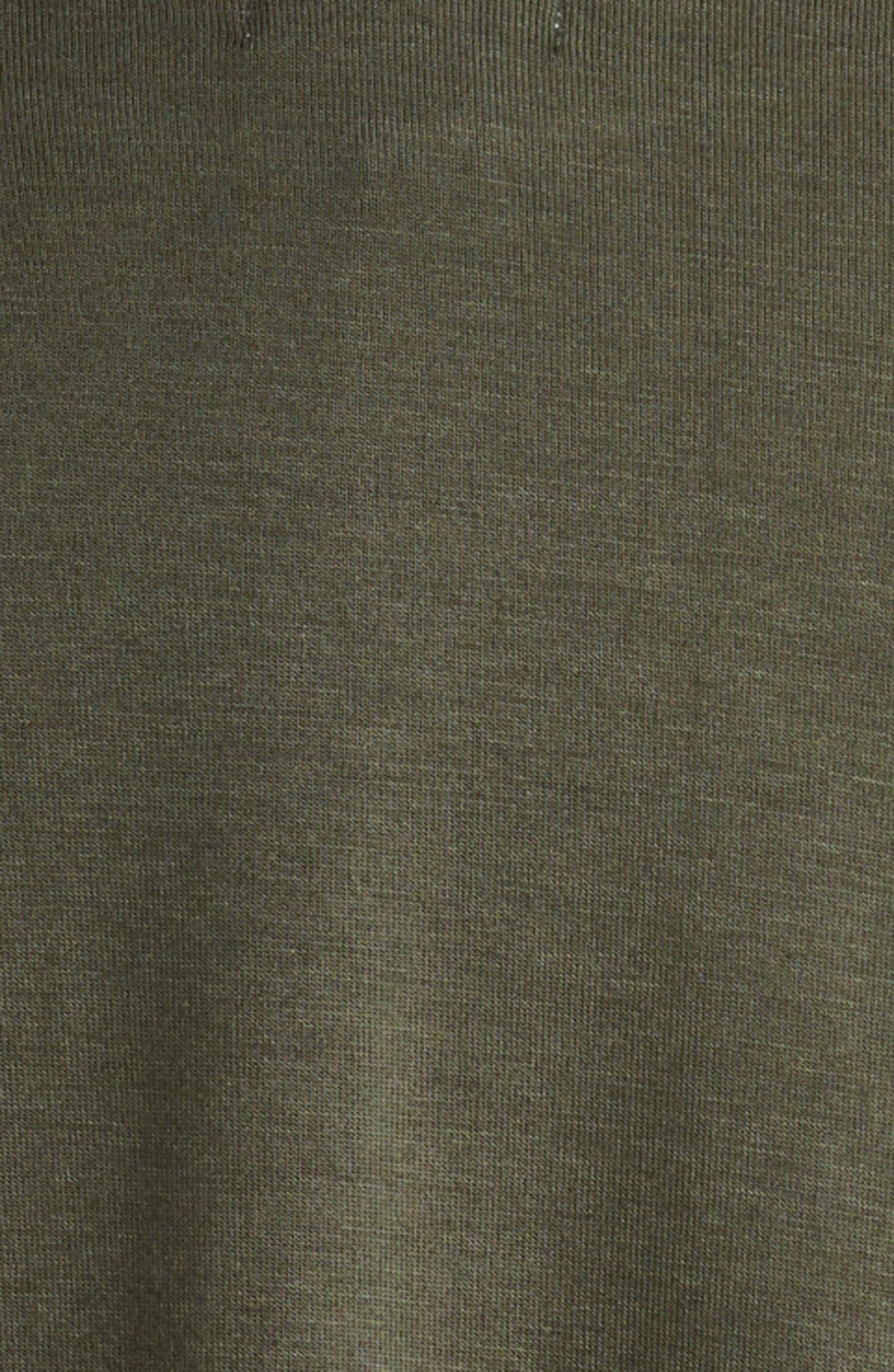 Baseball Dress,                             Alternate thumbnail 3, color,                             Thyme/ Heather Grey