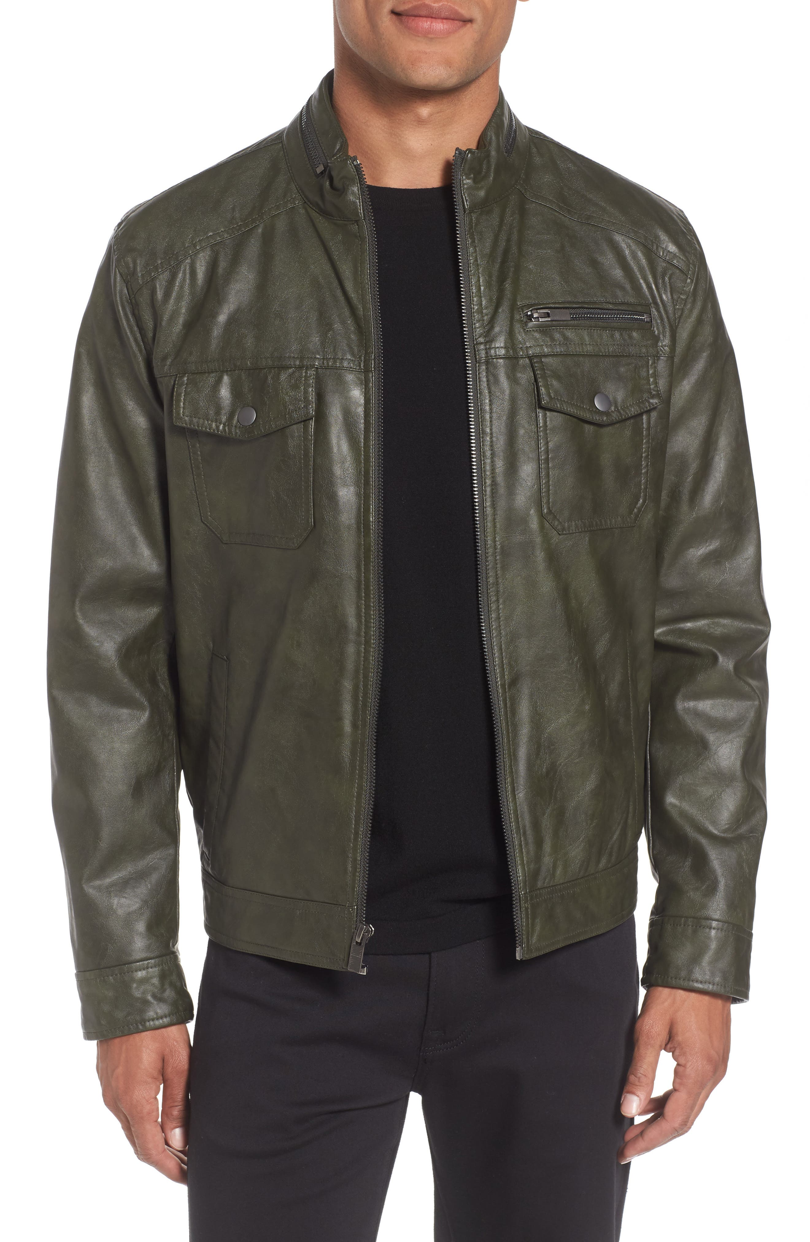 Reaction Kenneth Cole Faux Leather Jacket
