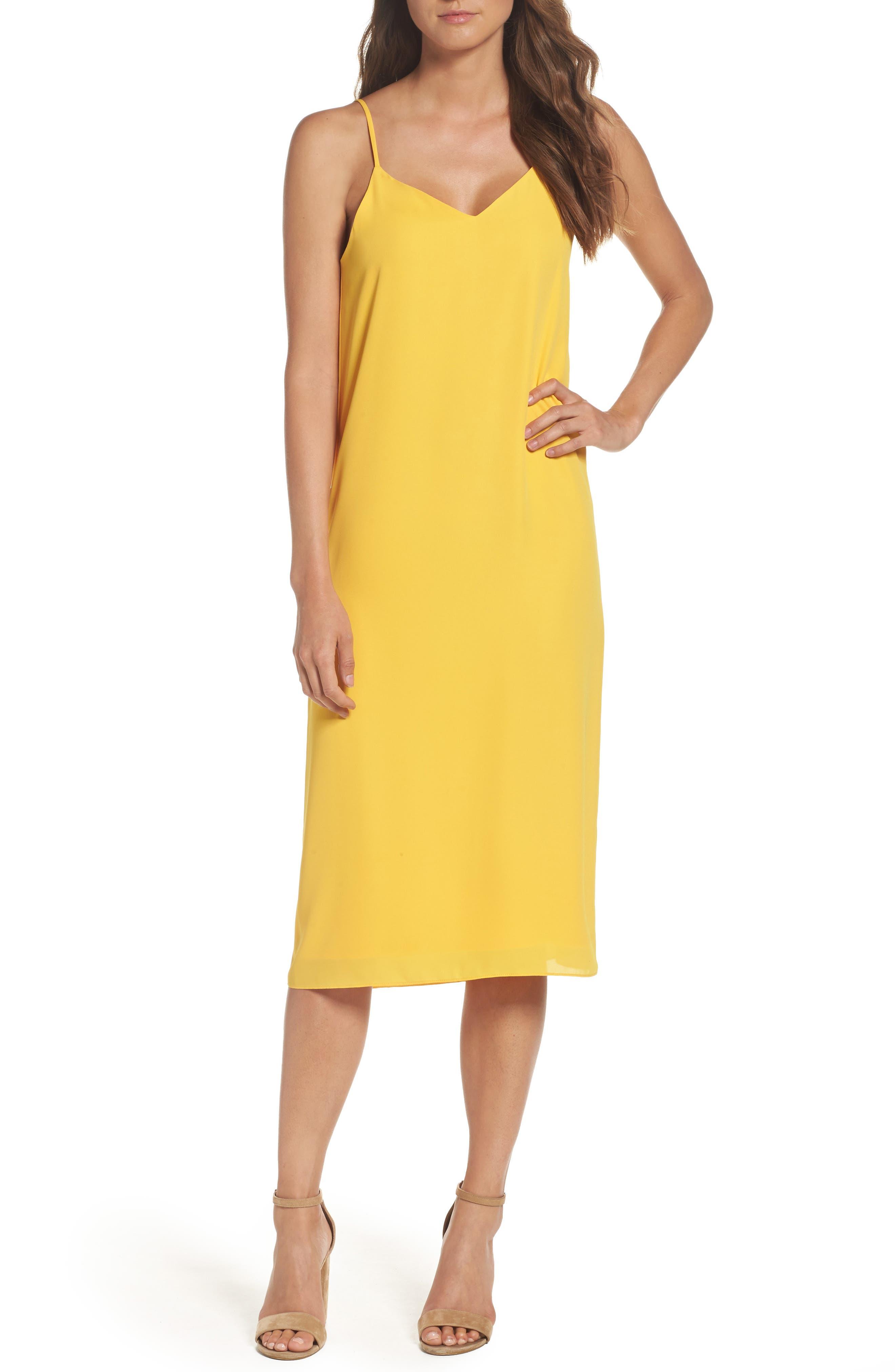 Dobby Midi Dress,                         Main,                         color, Golden