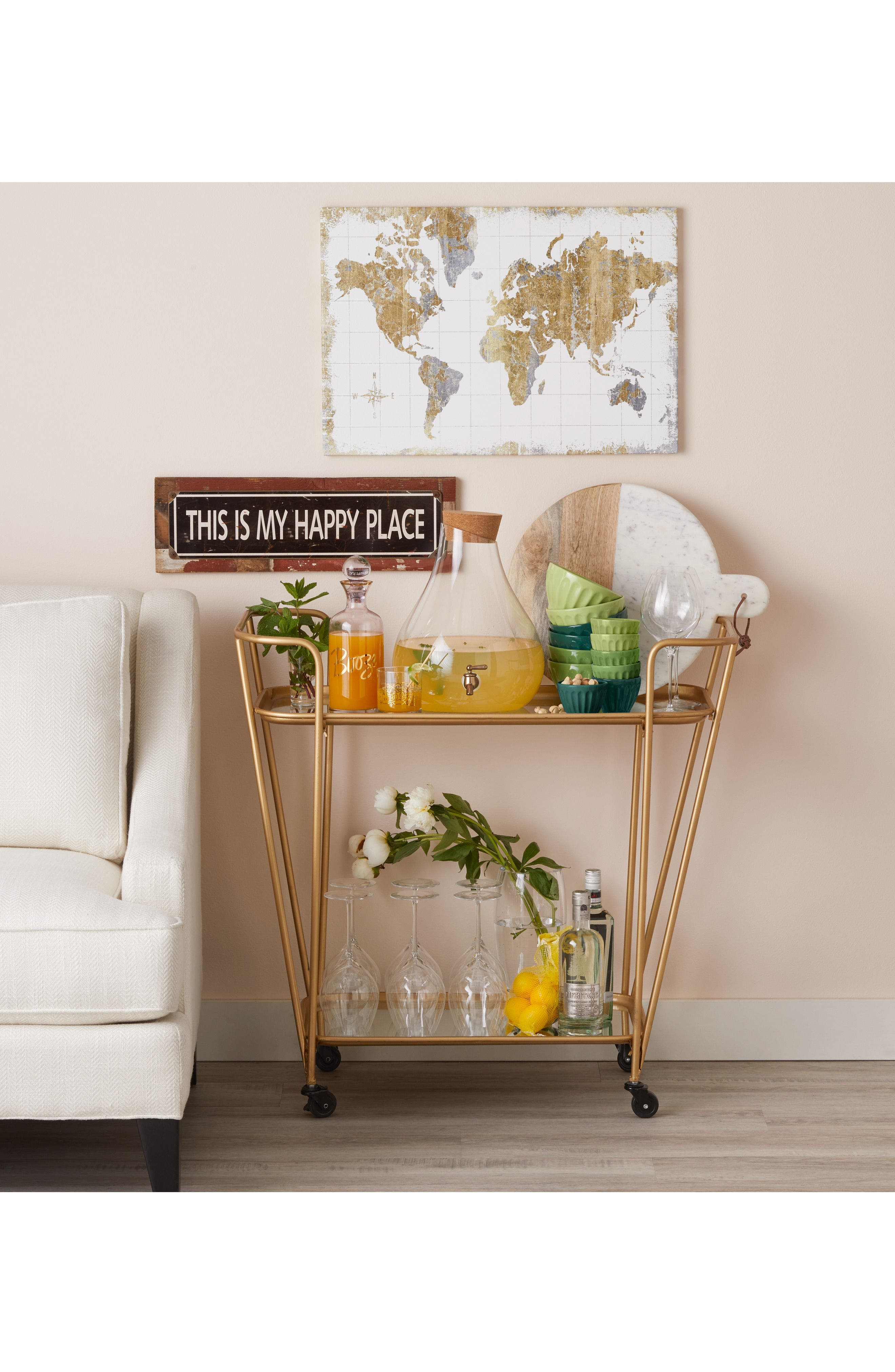 Alternate Image 2  - Poncho & Goldstein 'This Is My Happy Place' Sign