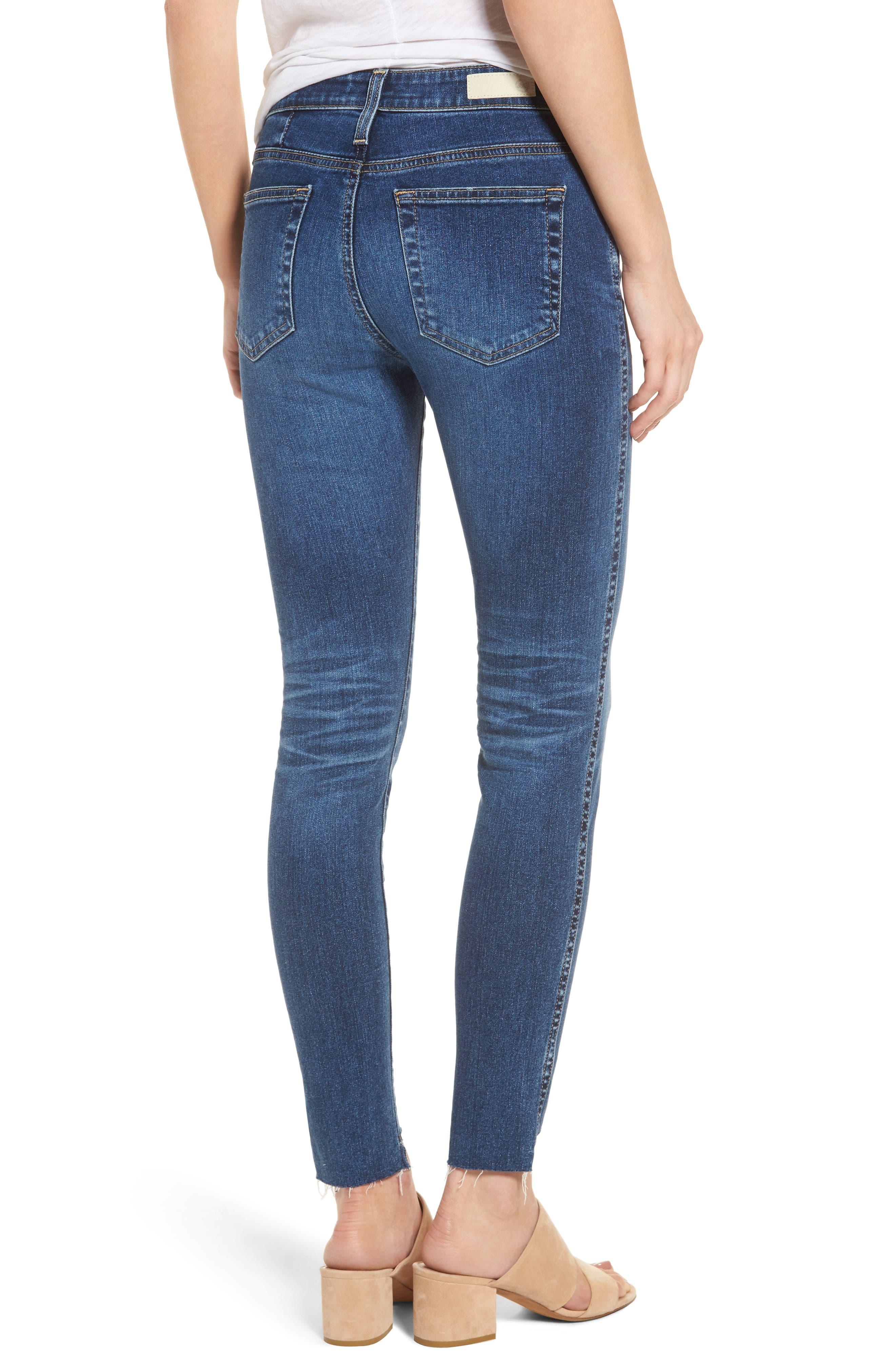 Alternate Image 2  - AG The High Rise Farrah Ankle Skinny Jeans (10 Years Rhythmic Blue)