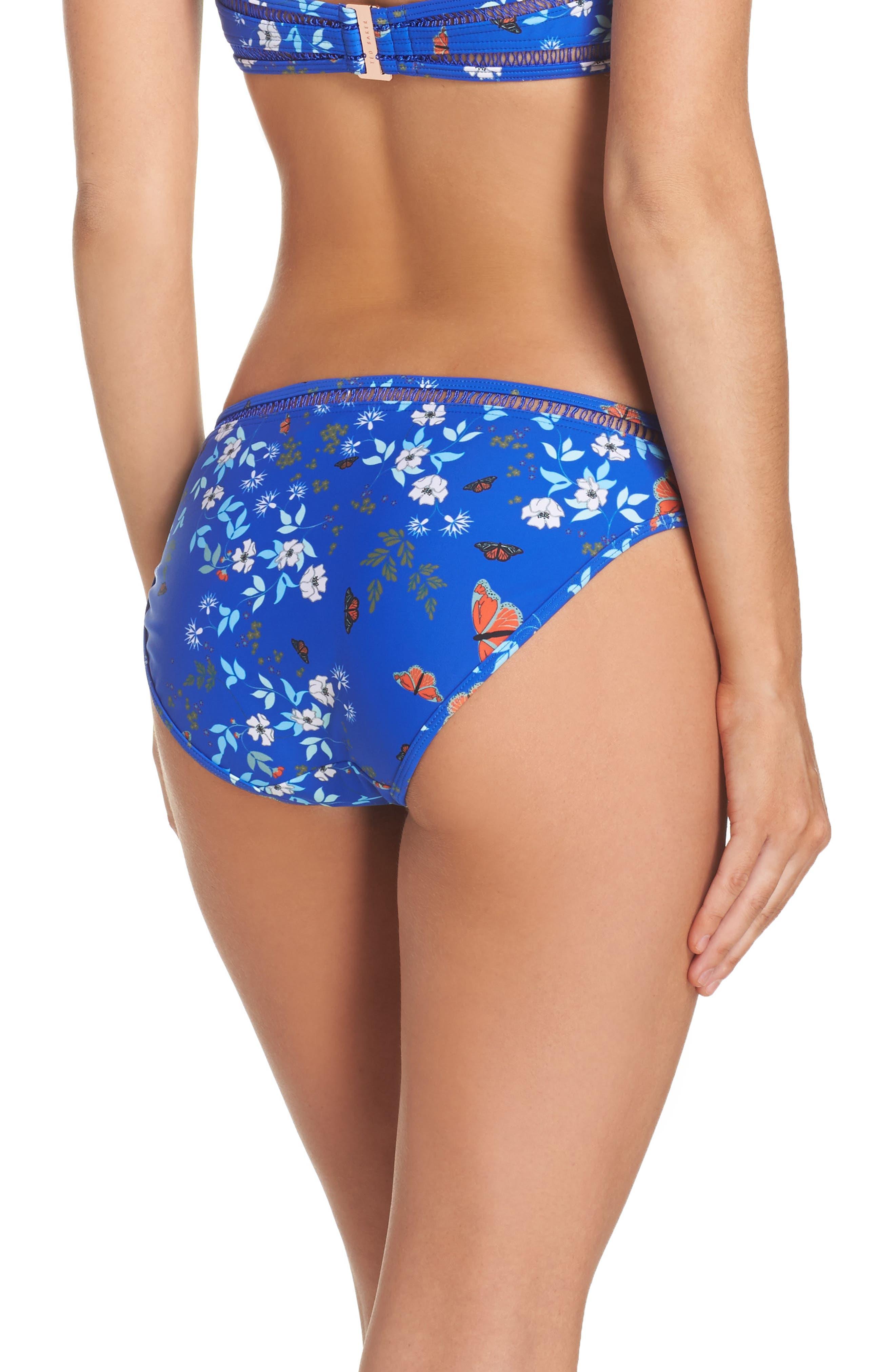 Kyoto Bikini Bottoms,                             Alternate thumbnail 2, color,                             Bright Blue