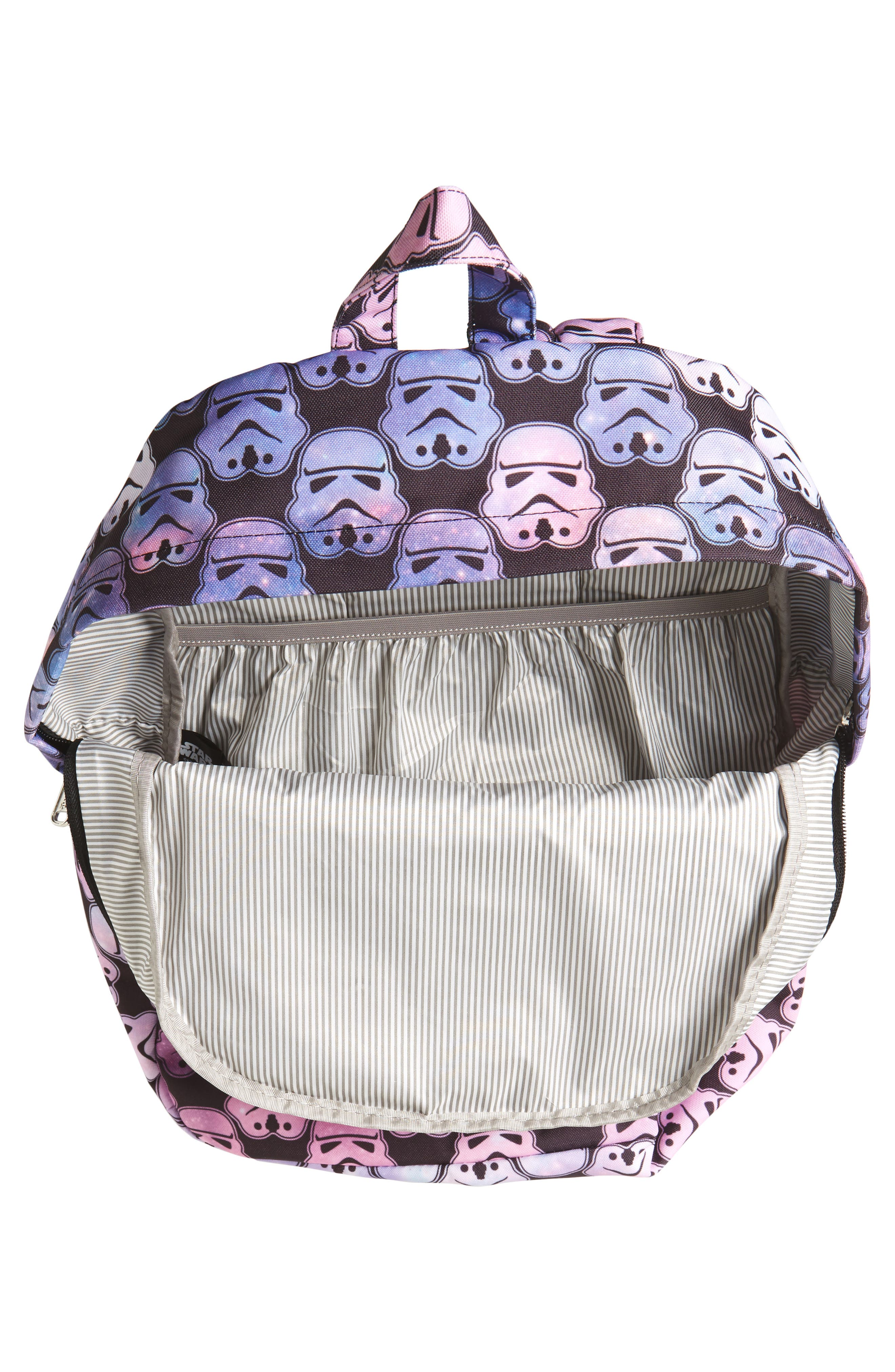 Star Wars<sup>™</sup> Stormtrooper Galaxy Backpack,                             Alternate thumbnail 3, color,                             Multi Black