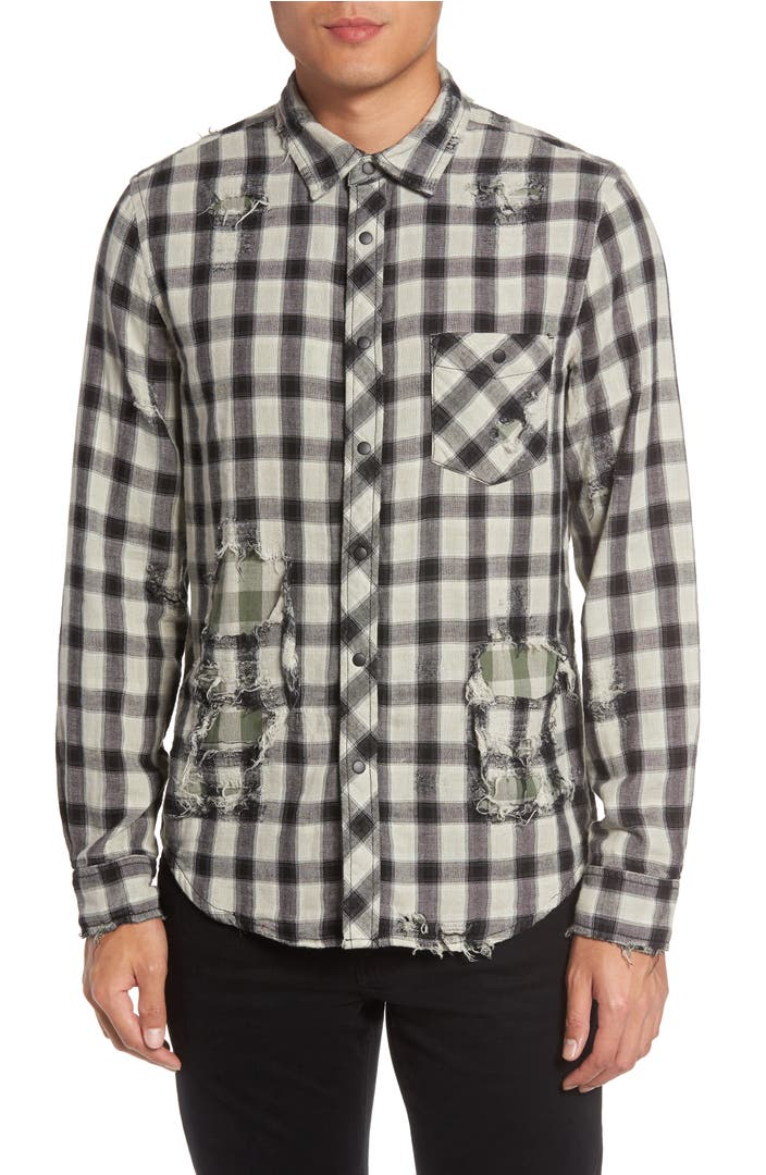Hudson jeans weston slim fit check sport shirt nordstrom for Slim fit check shirt