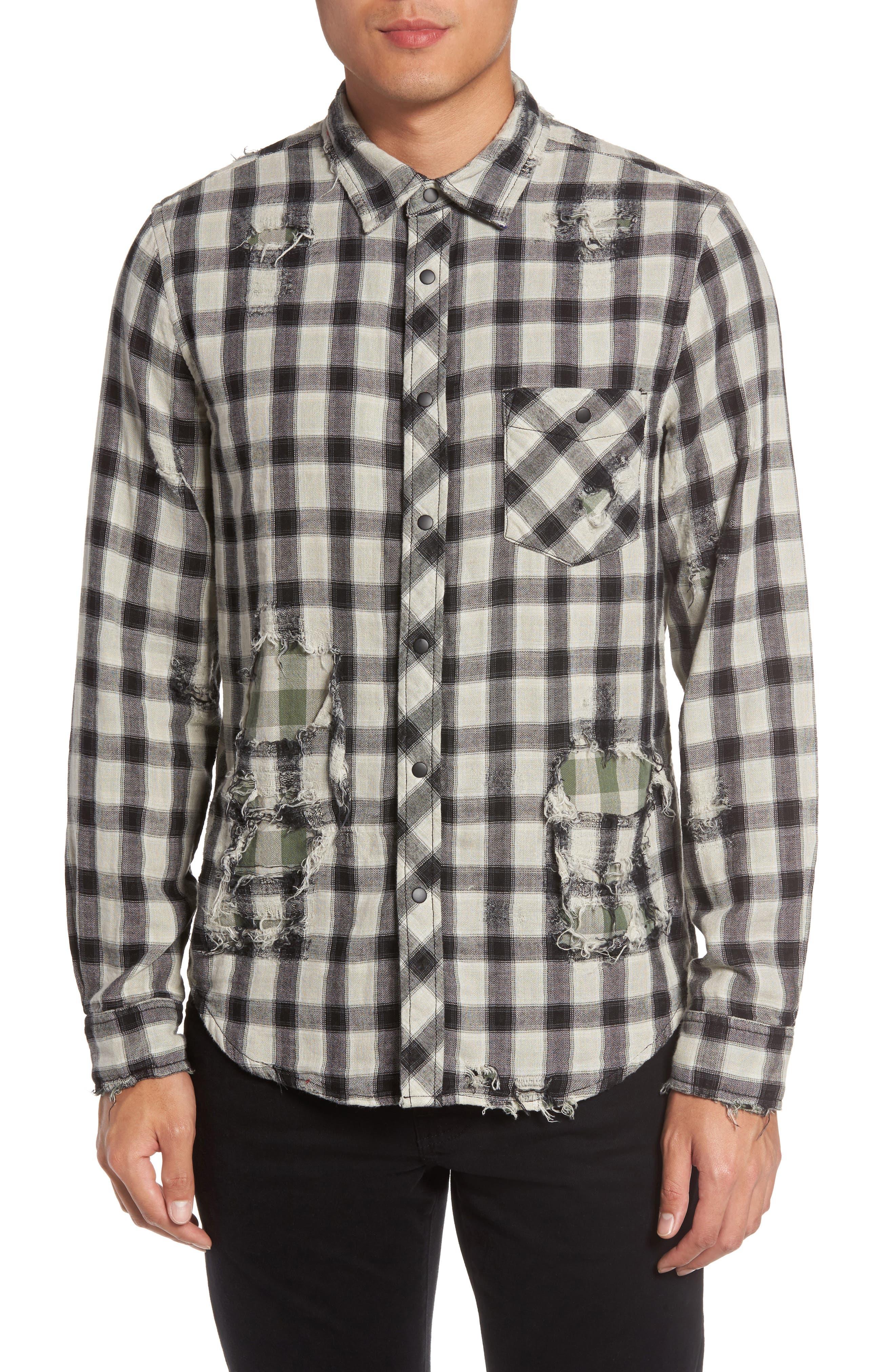 Hudson Jeans Weston Slim Fit Check Sport Shirt