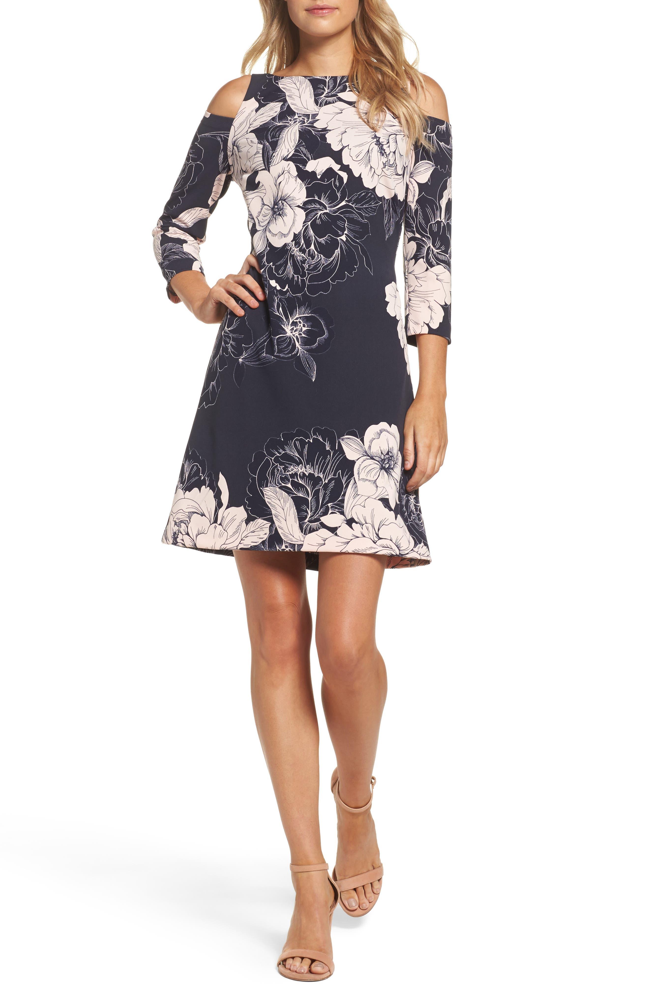 ELIZA J Cold Shoulder Sheath Dress