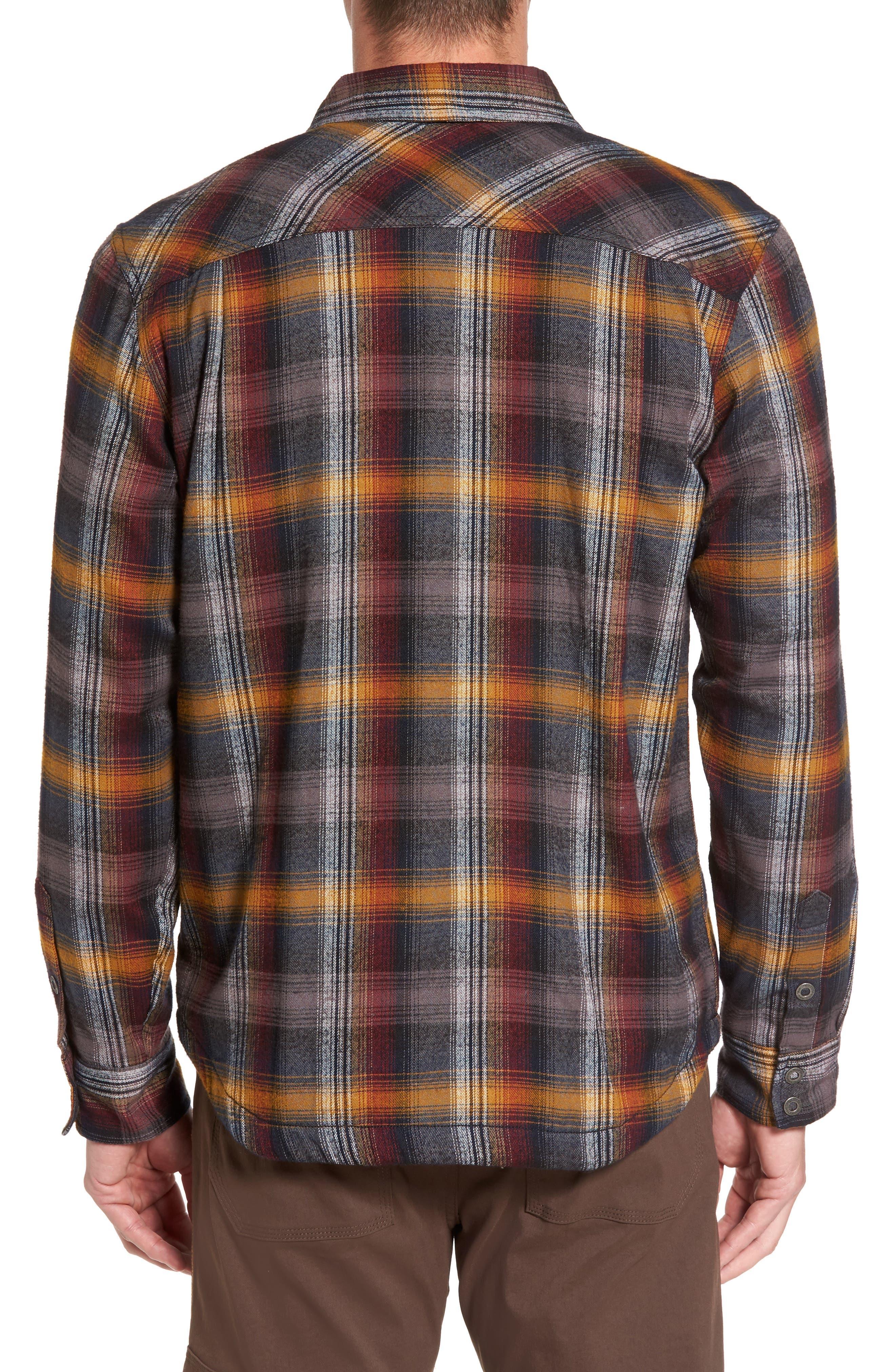 Asylum Regular Fit Plaid Shirt Jacket,                             Alternate thumbnail 2, color,                             Black