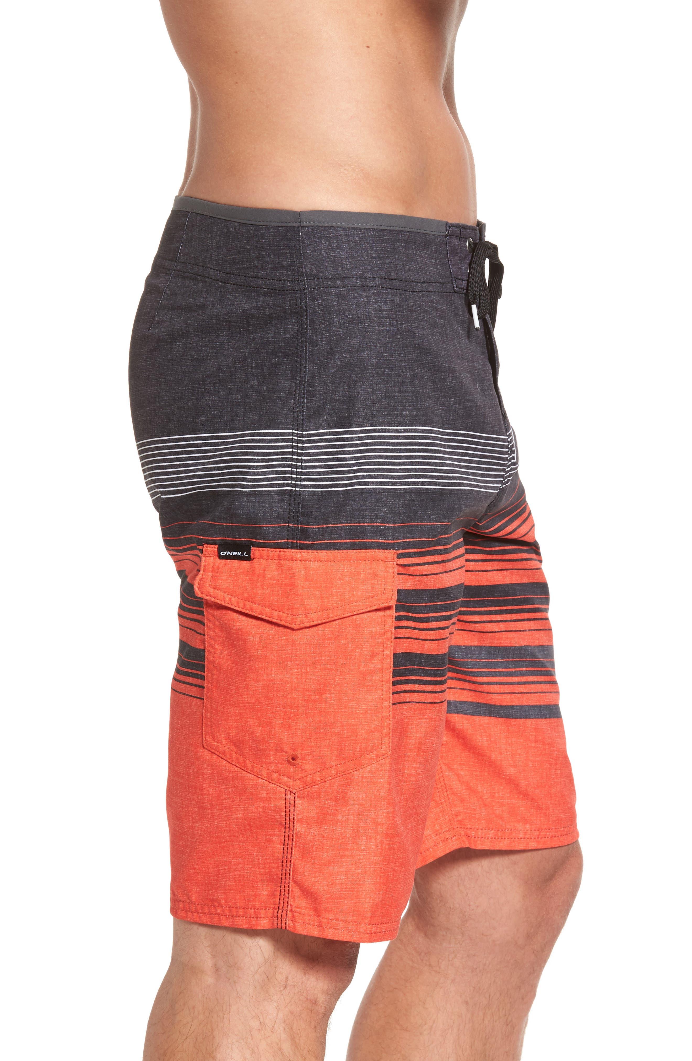 Lennox Board Shorts,                             Alternate thumbnail 4, color,                             Neon Red