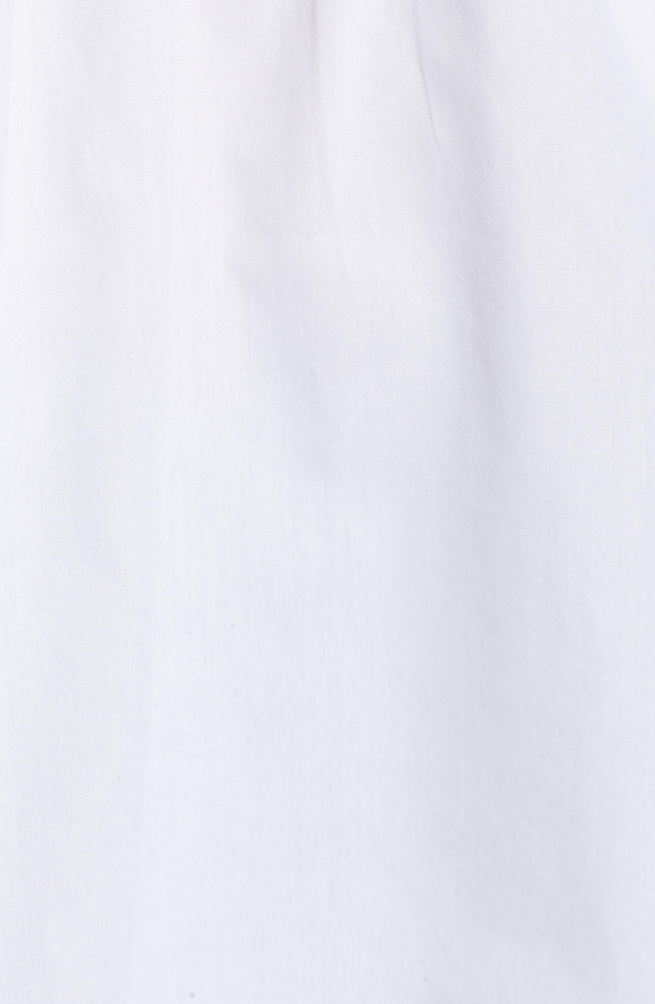 Tie Back Poplin Tunic,                             Alternate thumbnail 5, color,                             White