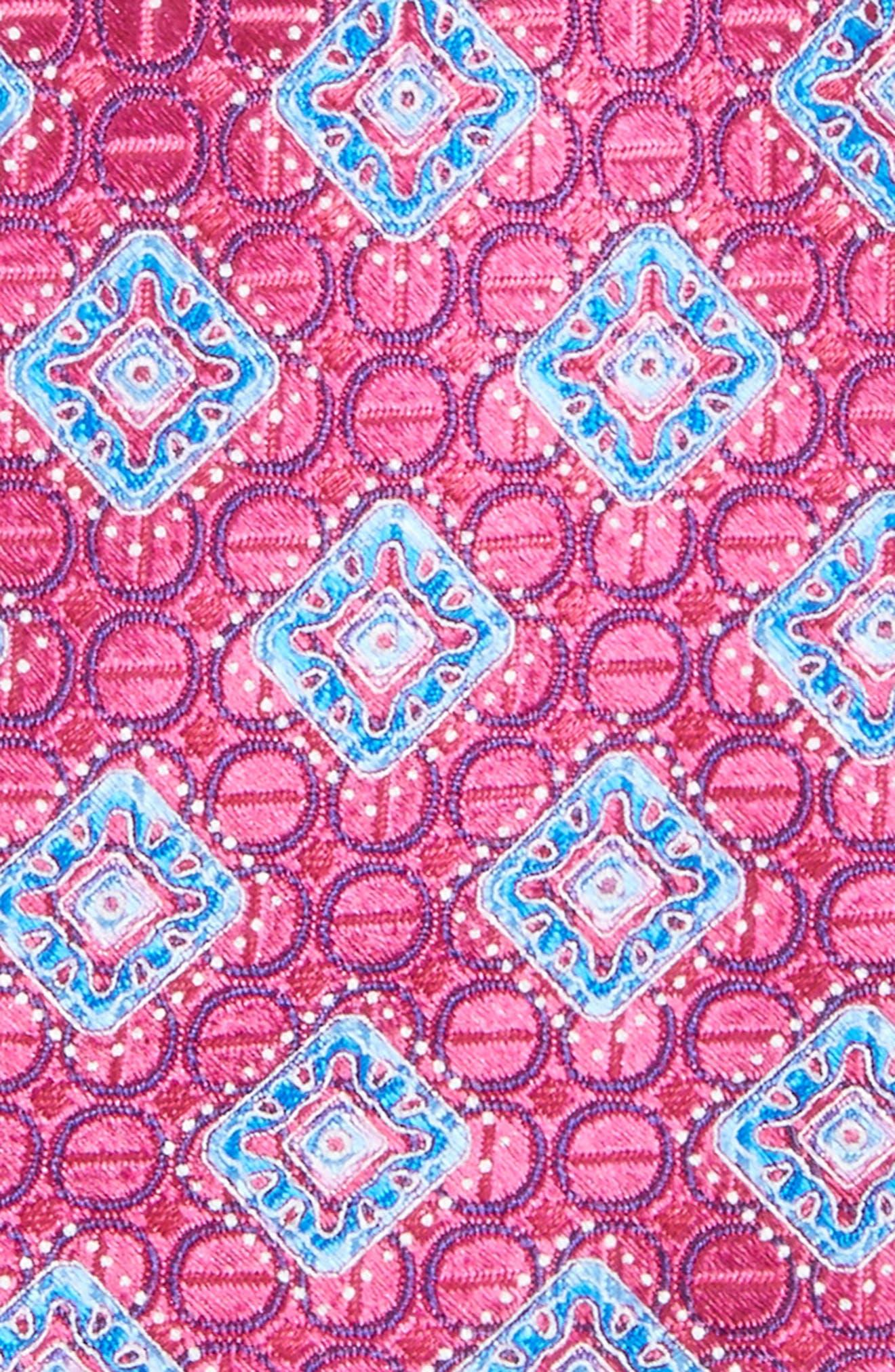 Sanders Neat Silk Tie,                             Alternate thumbnail 2, color,                             Magenta